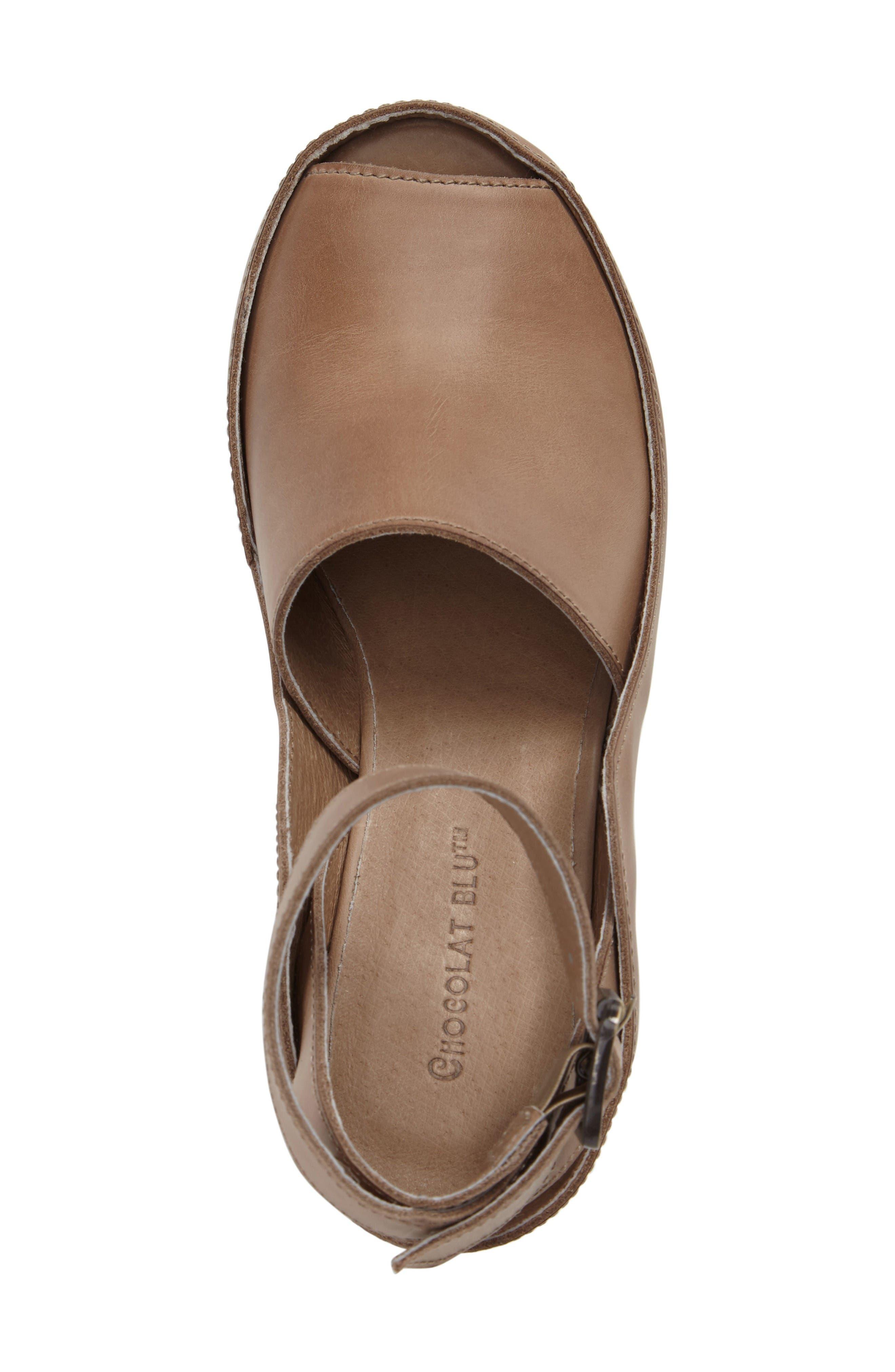 Alternate Image 5  - Chocolat Blu Wisper Wedge Sandal (Women)