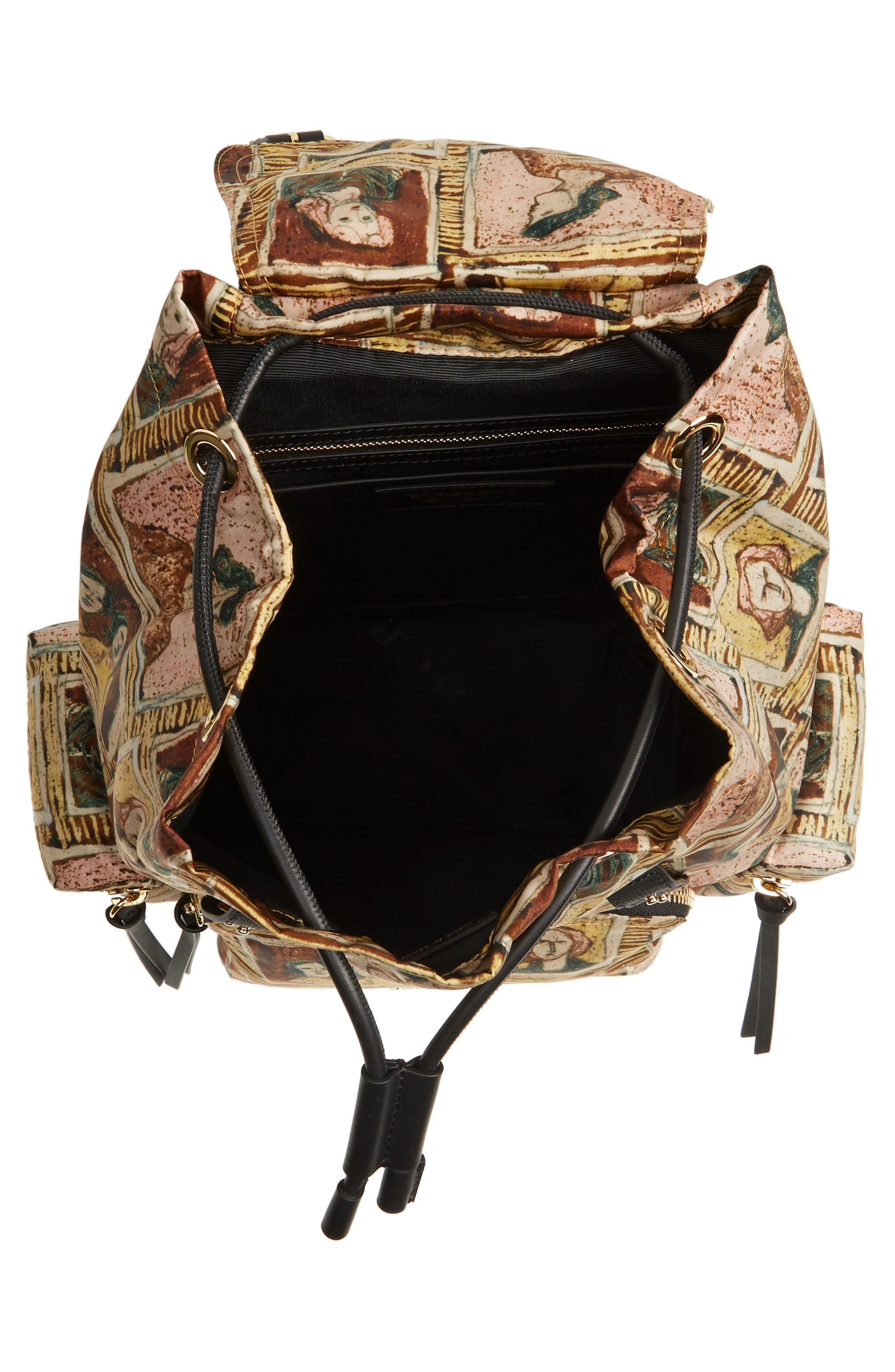 Medium Henrey Backpack,                             Alternate thumbnail 4, color,                             Umber Brown Multi