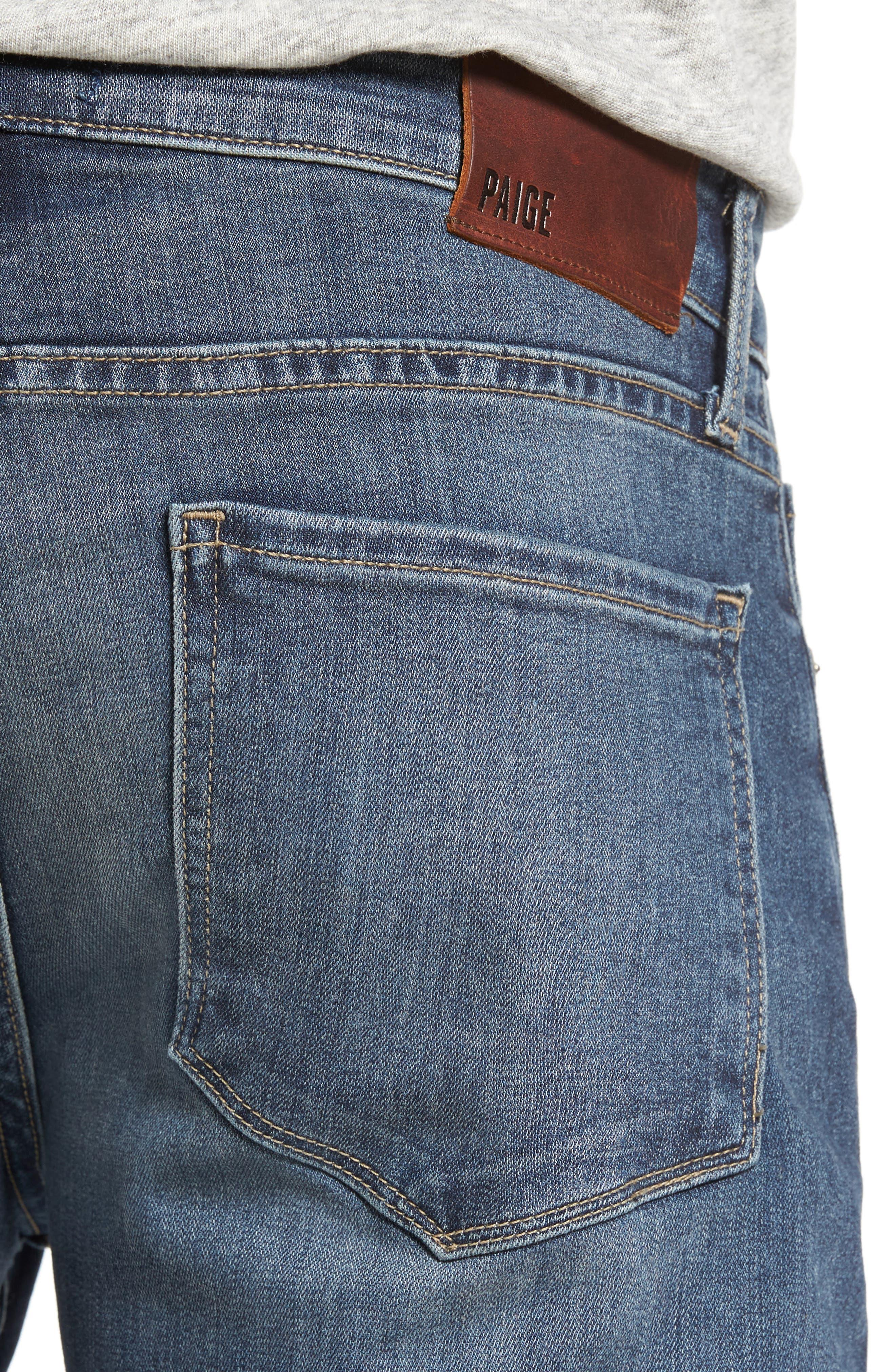 Transcend - Lennox Slim Fit Jeans,                             Alternate thumbnail 4, color,                             Elwood