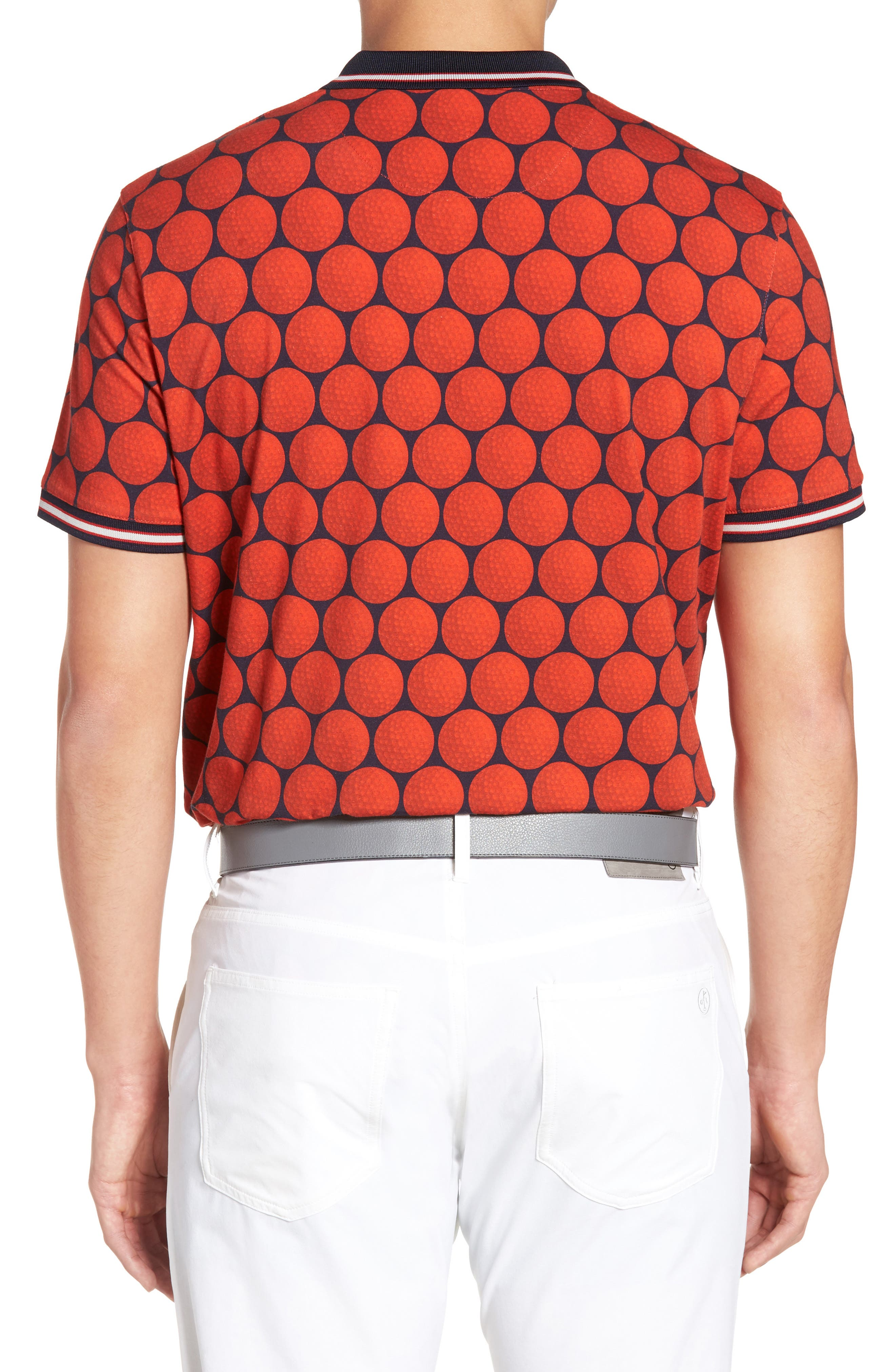 Birdy Print Golf Polo,                             Alternate thumbnail 2, color,                             Red