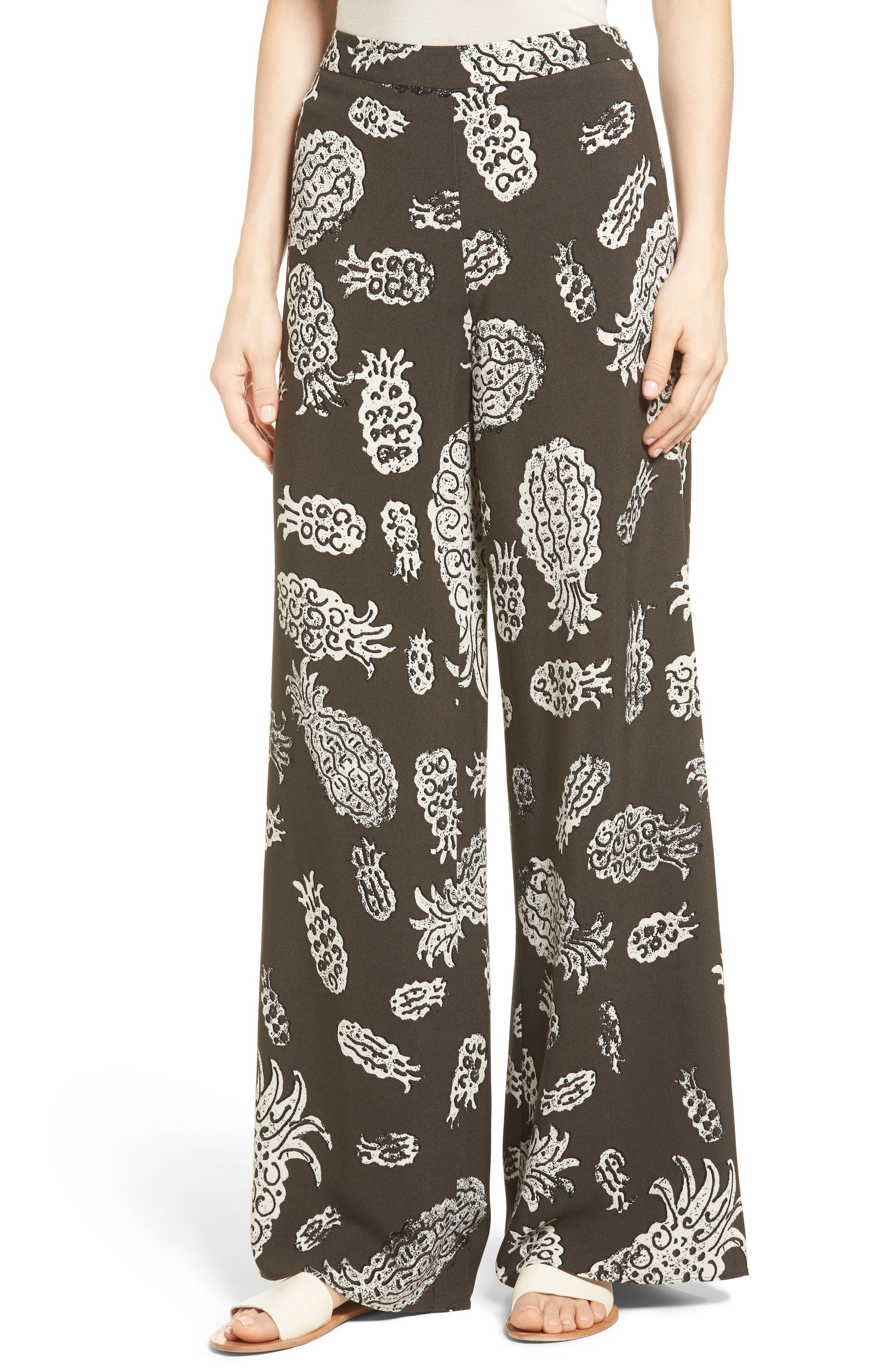 Alternate Image 1 Selected - NIC+ZOE Pineapple Pop Print Pants