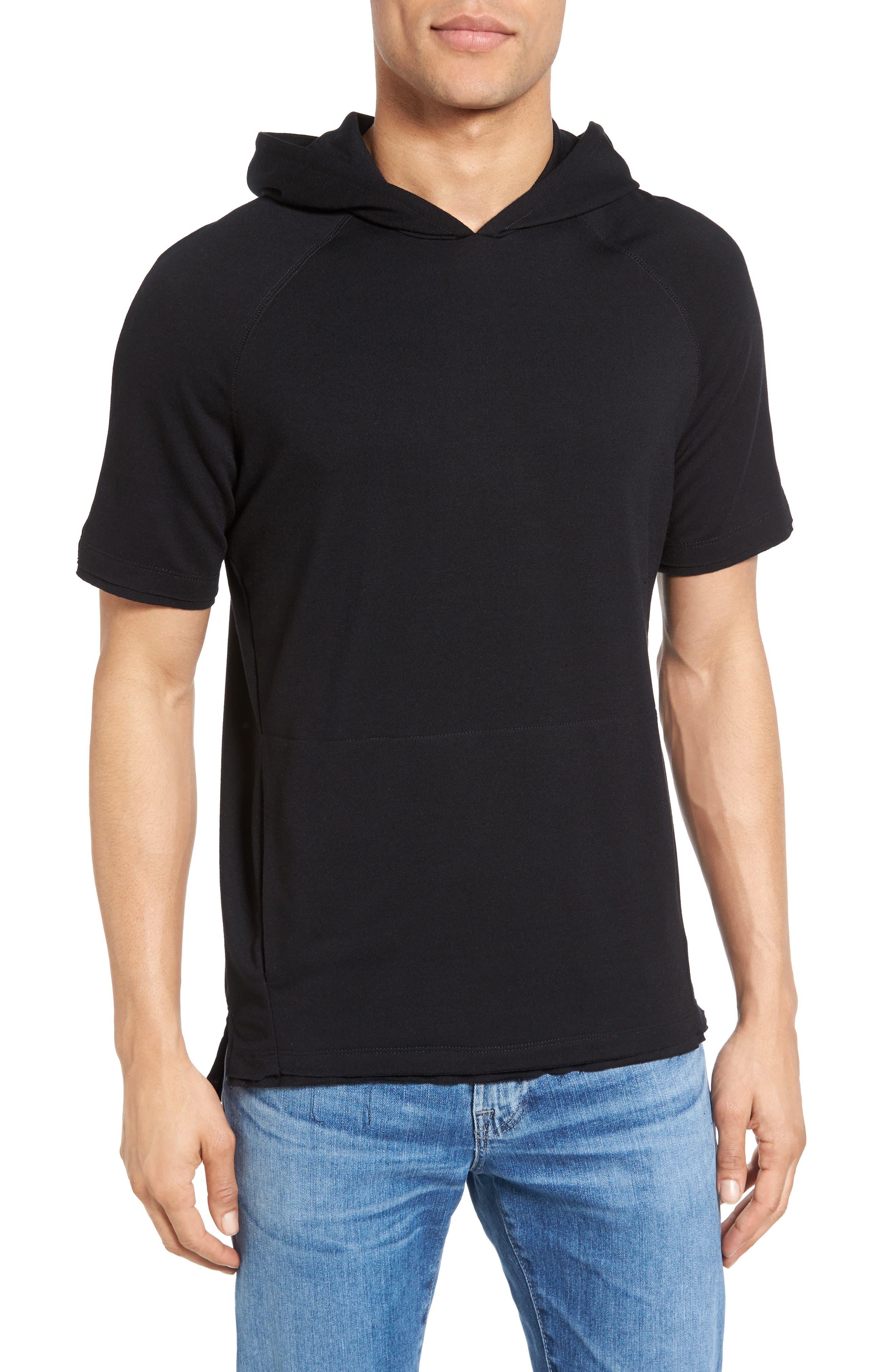 Lawson Short Sleeve Hoodie,                         Main,                         color, Black