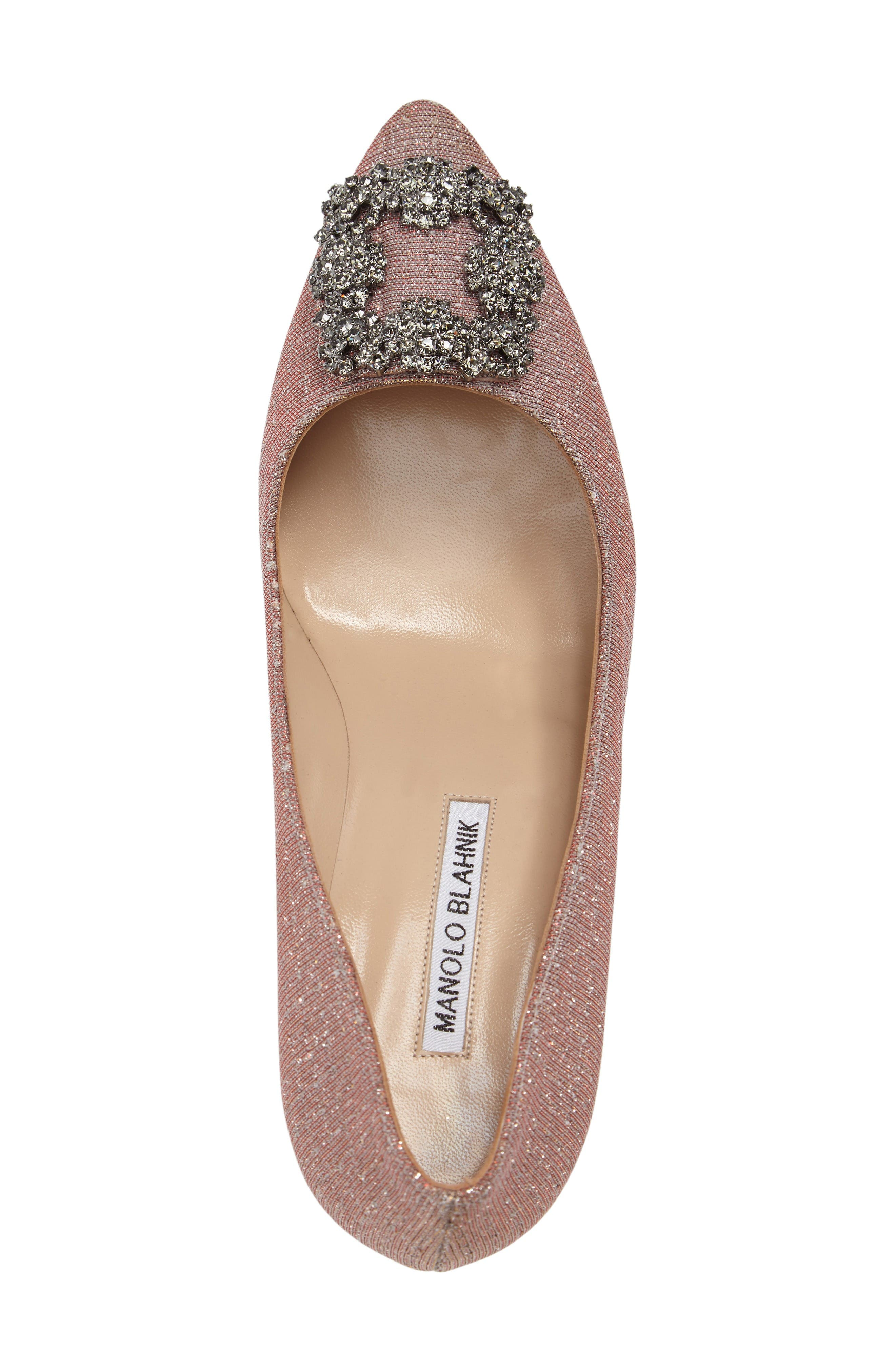 Hangisi Pump,                             Alternate thumbnail 5, color,                             Champagne Fabric
