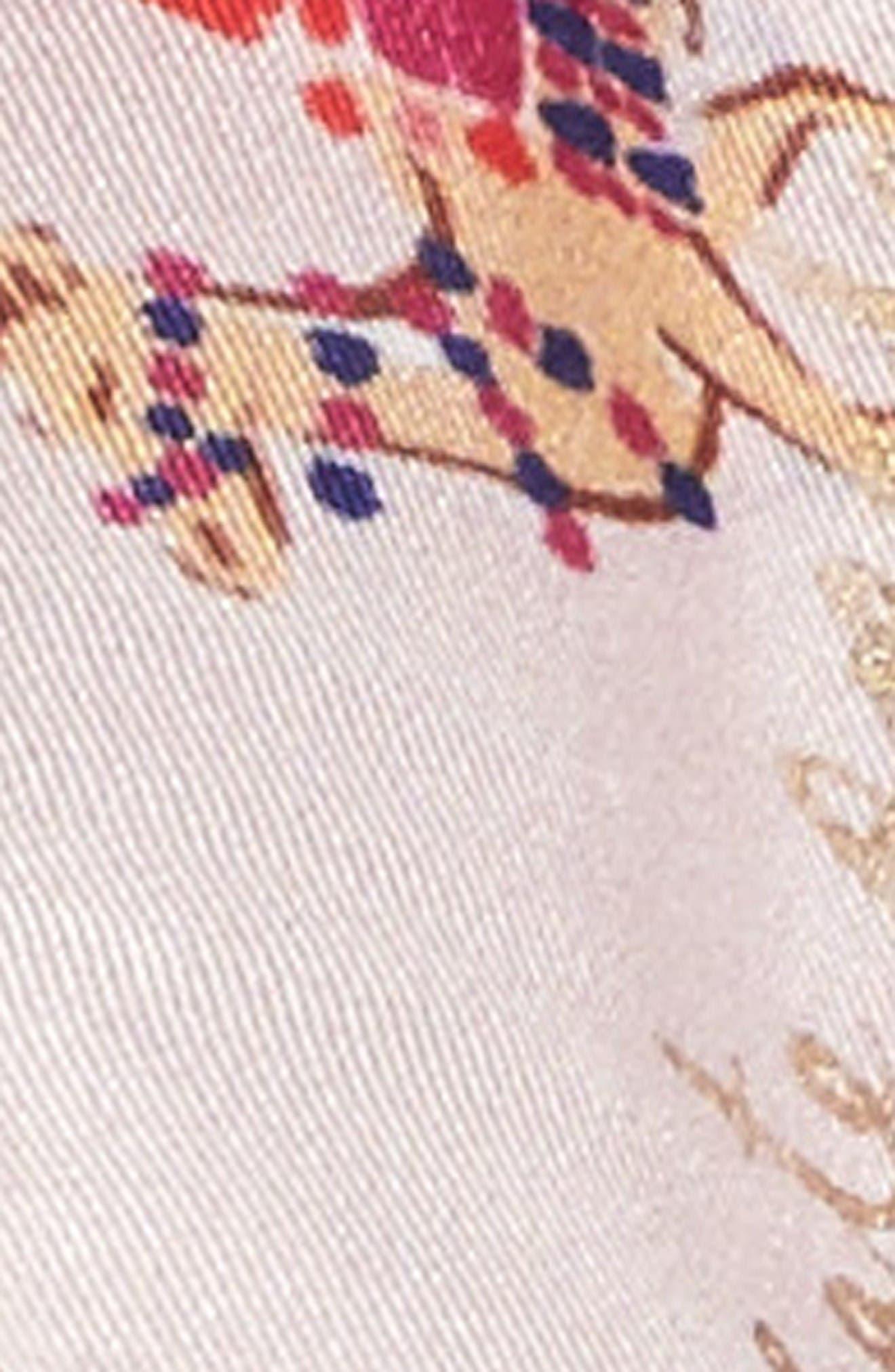 Alternate Image 4  - kate spade new york camel march skinny silk scarf