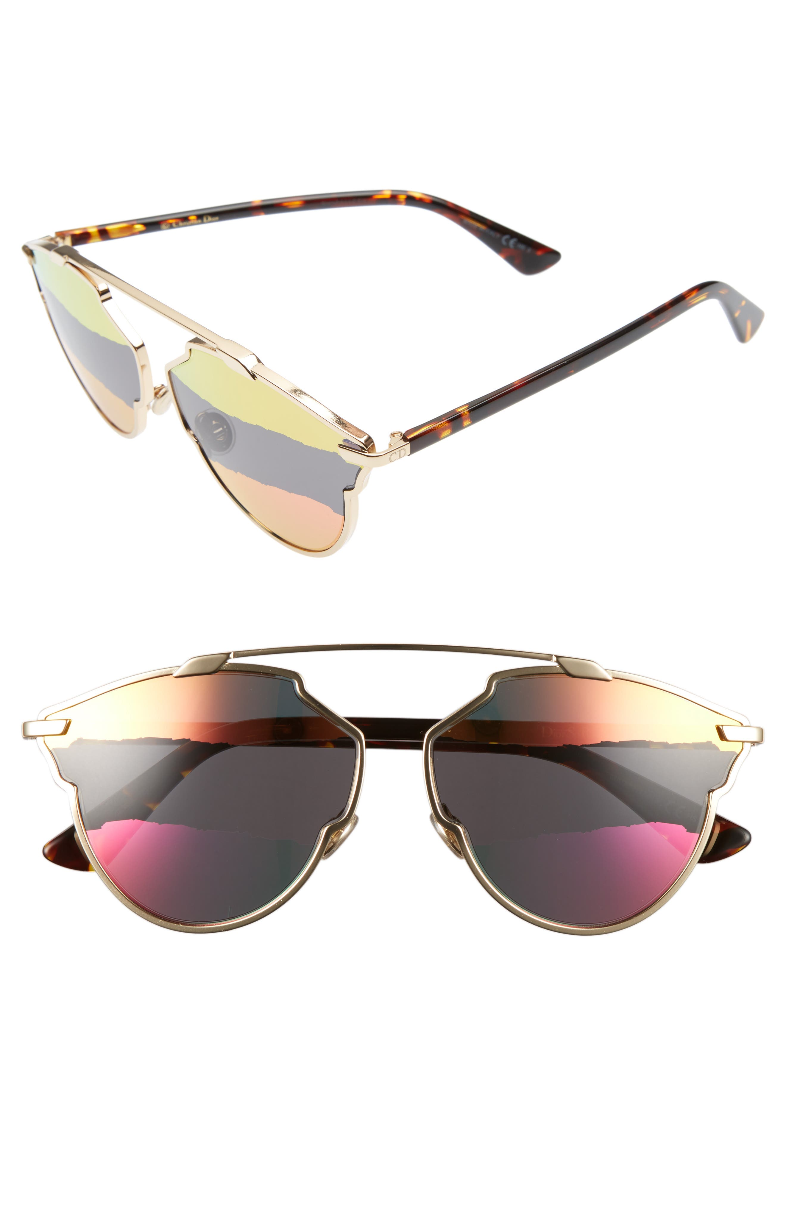 Main Image - Dior So Real 59mm Brow Bar Sunglasses