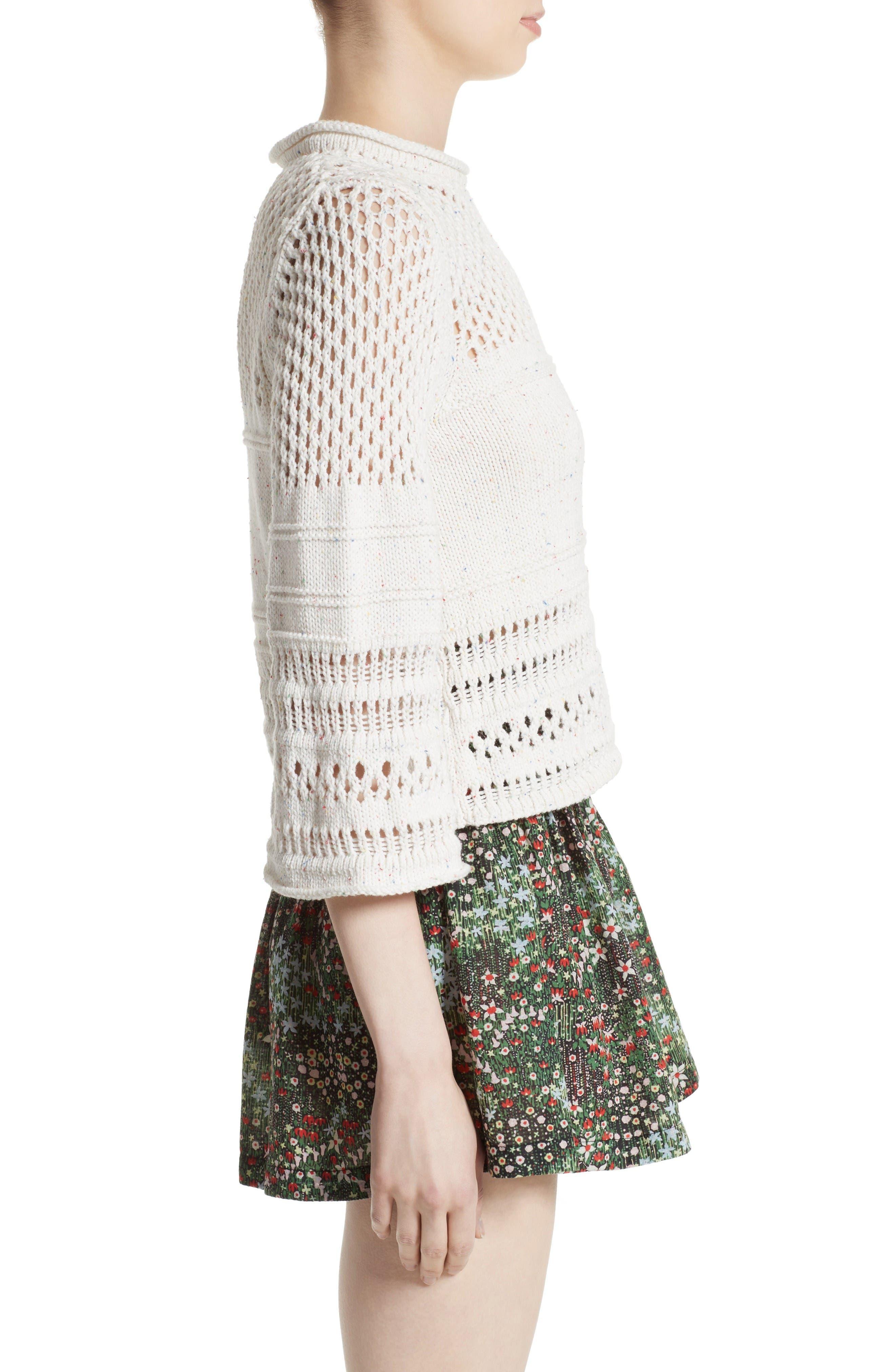 Alternate Image 3  - La Vie Rebecca Taylor Confetti Knit Pullover
