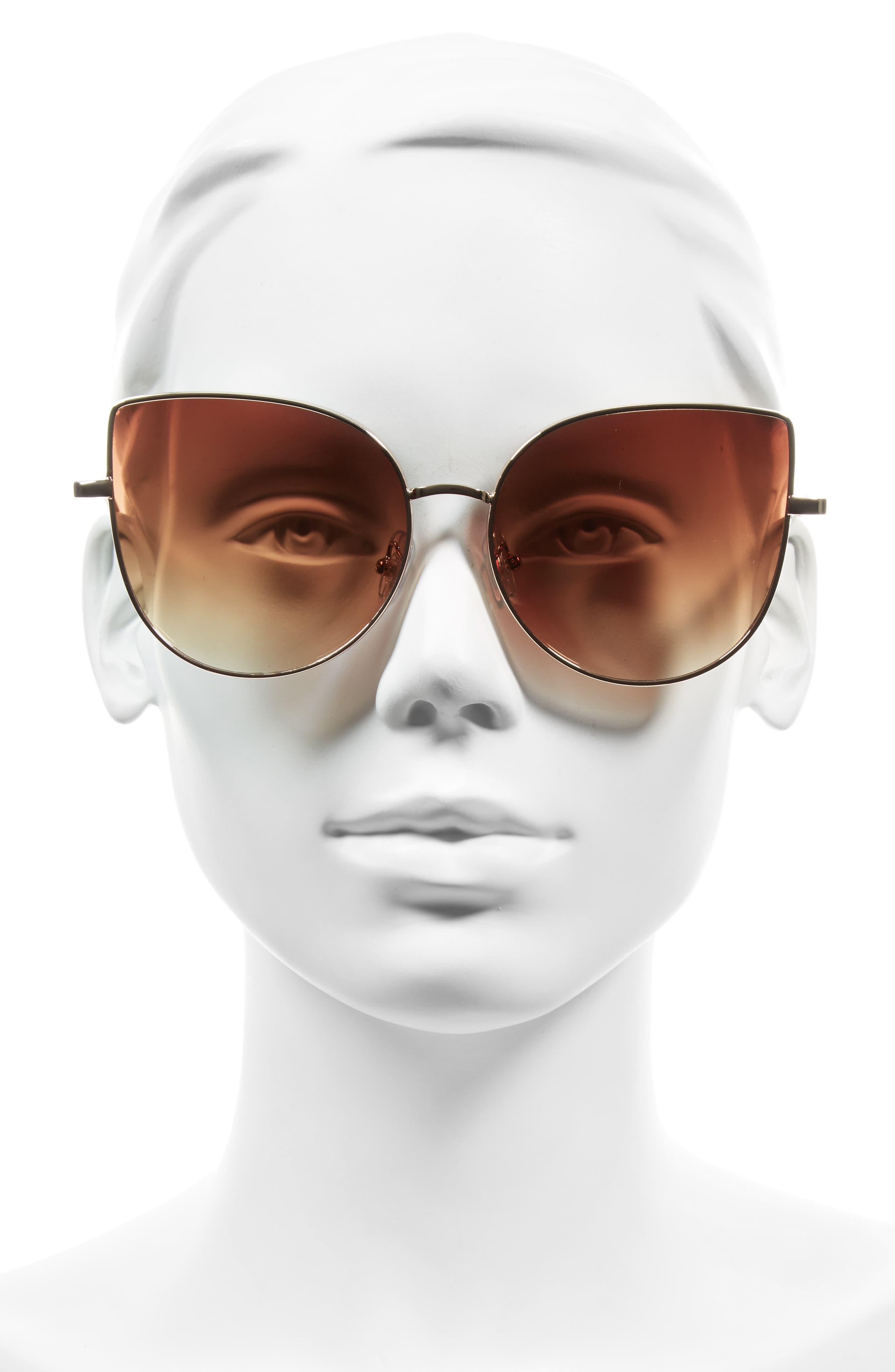Alternate Image 2  - BP. 60mm Metal Cat Eye Sunglasses