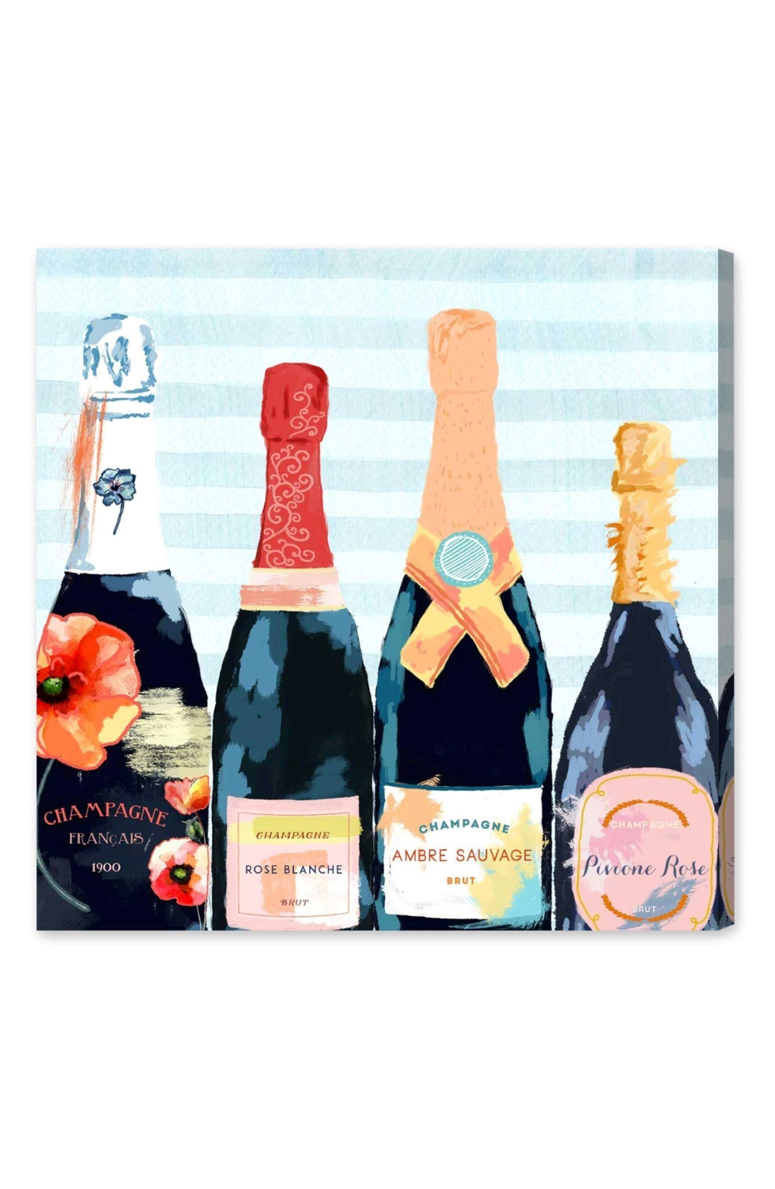 Alternate Image 1 Selected - Oliver Gal Champagne Flower Canvas Wall Art