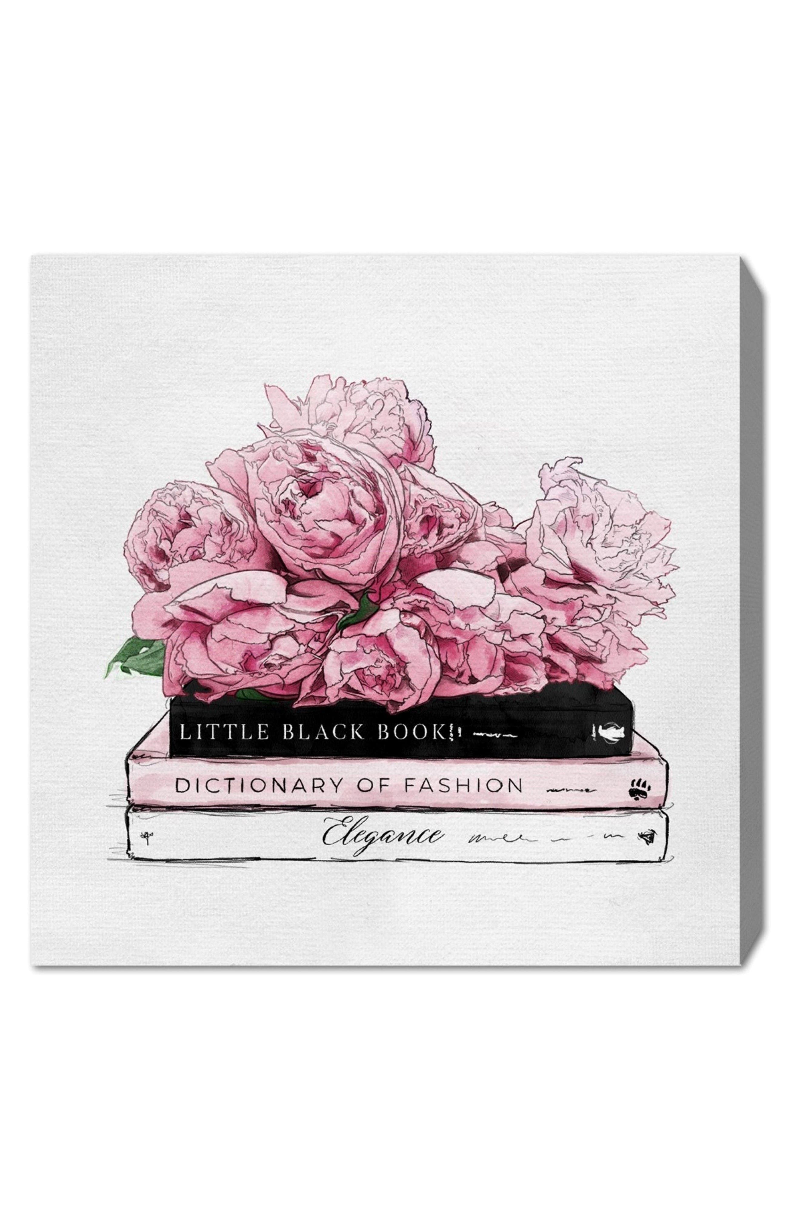 Roses & Elegance Canvas Wall Art,                         Main,                         color, White