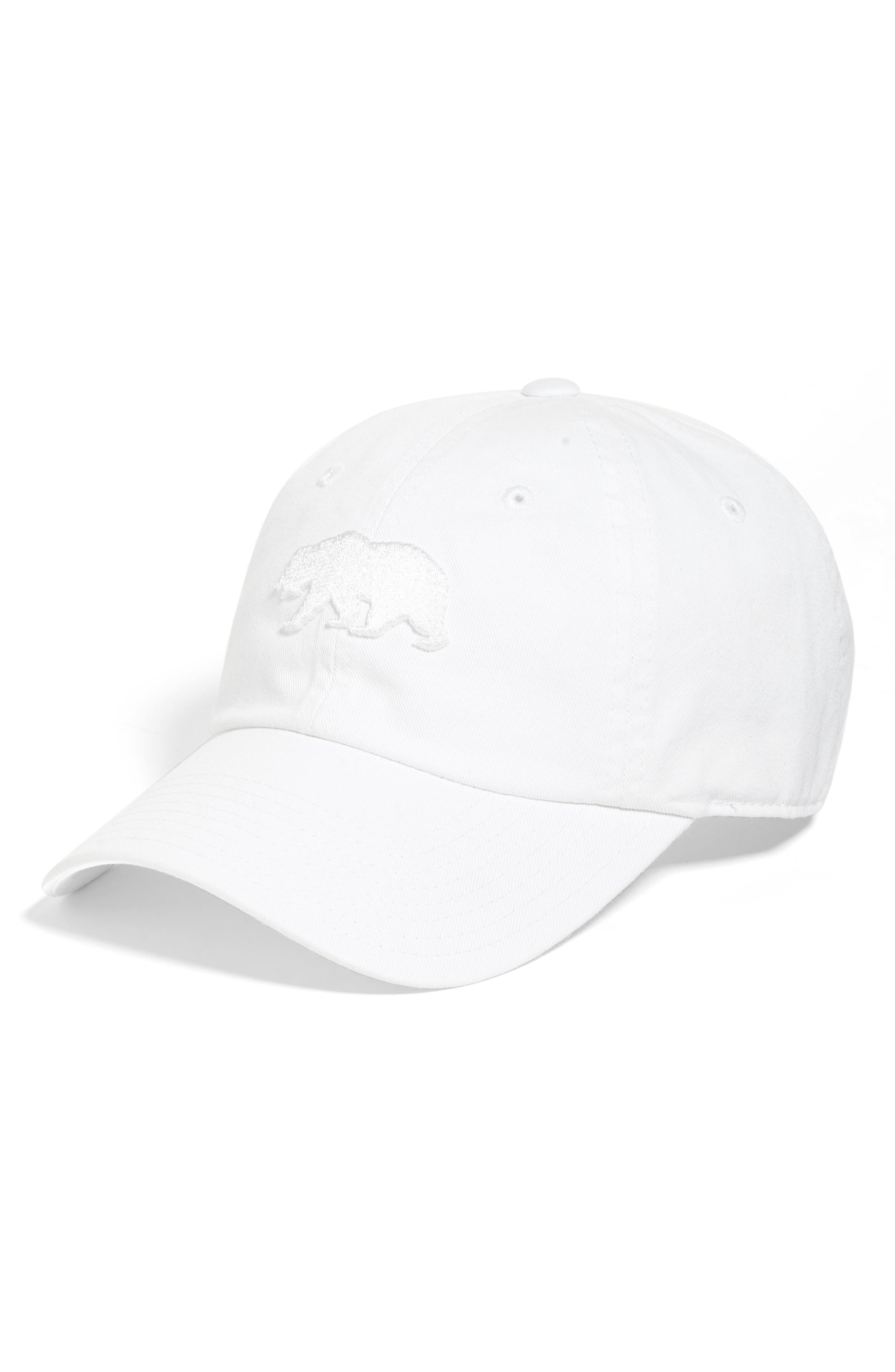 Cali Baseball Cap,                         Main,                         color, Snow White