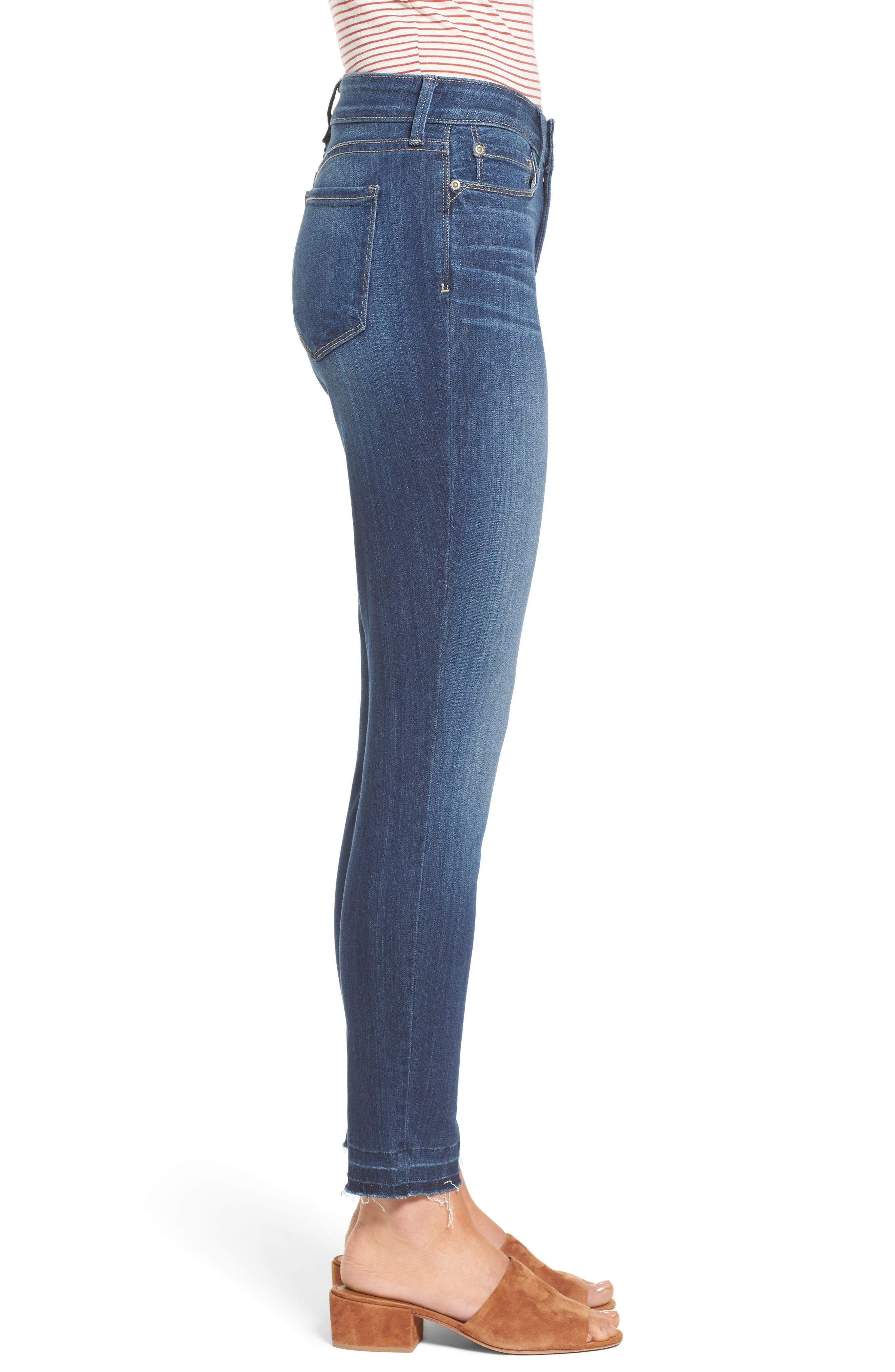 Ami Release Hem Stretch Skinny Jeans,                             Alternate thumbnail 3, color,                             Mabel