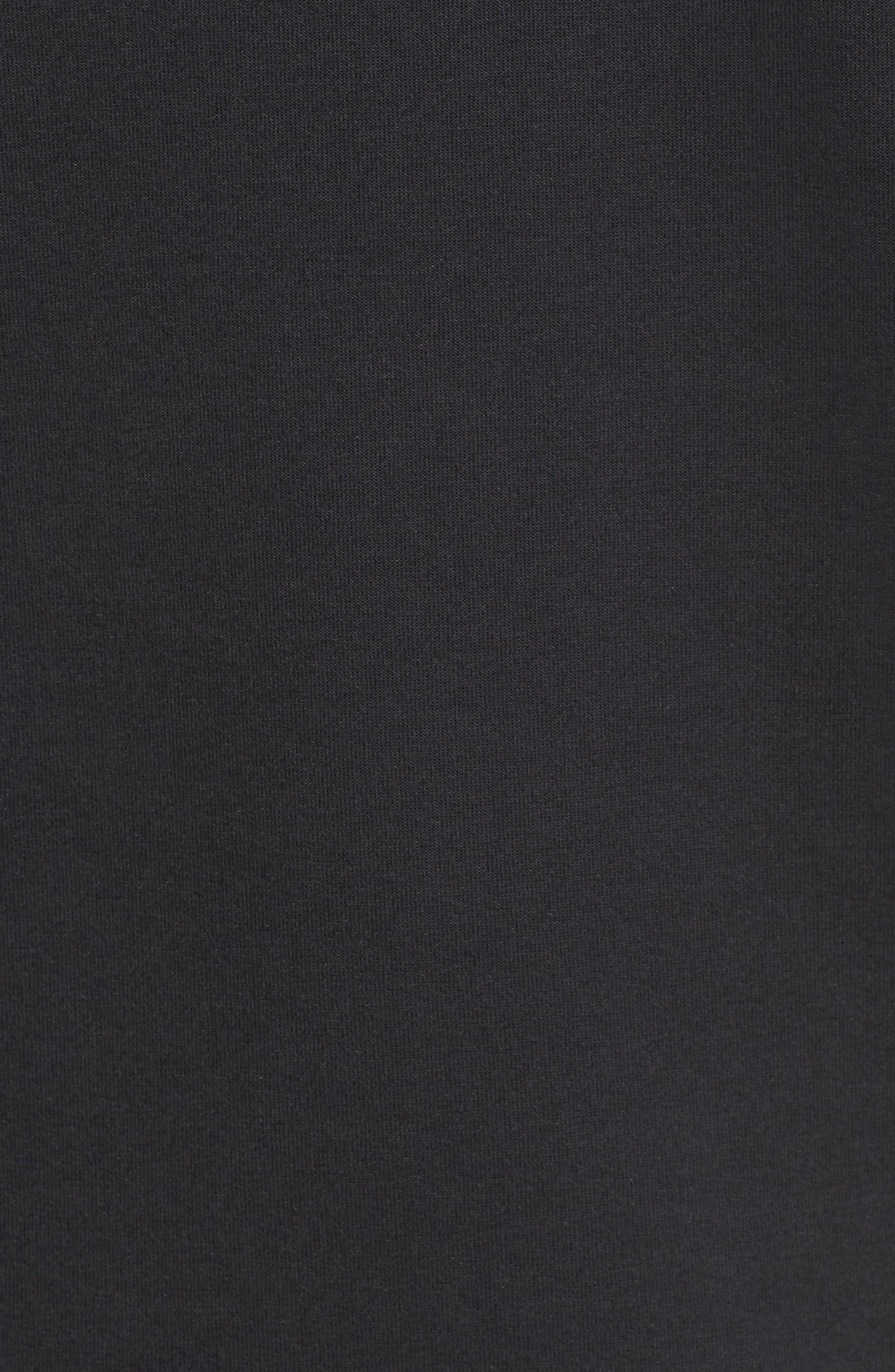 Half-Zip Pullover Hoodie,                             Alternate thumbnail 5, color,                             Black/ Black/ Black