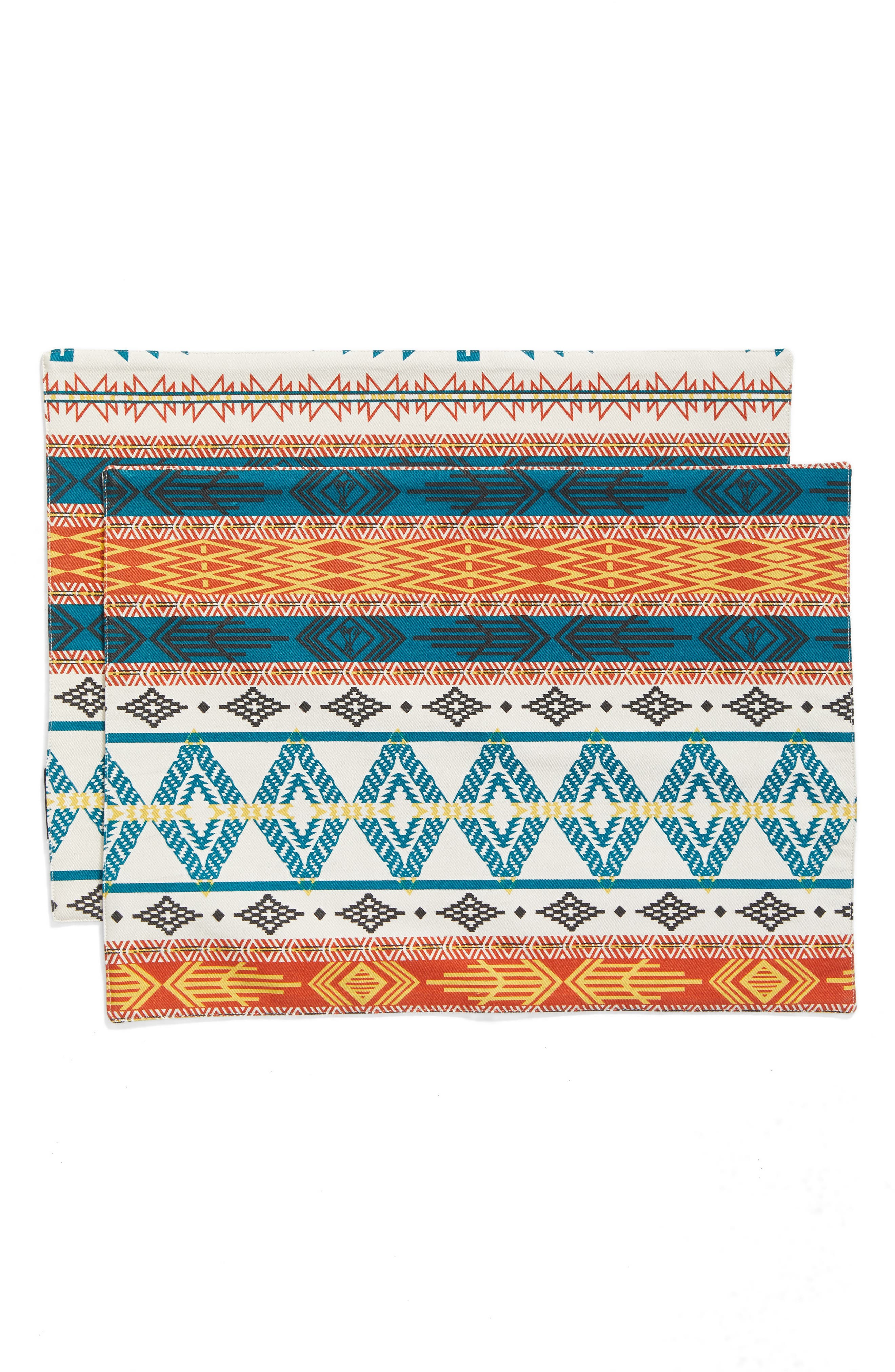 Bright Mesa Set of 4 Placemats,                         Main,                         color, Ivory/ Multi