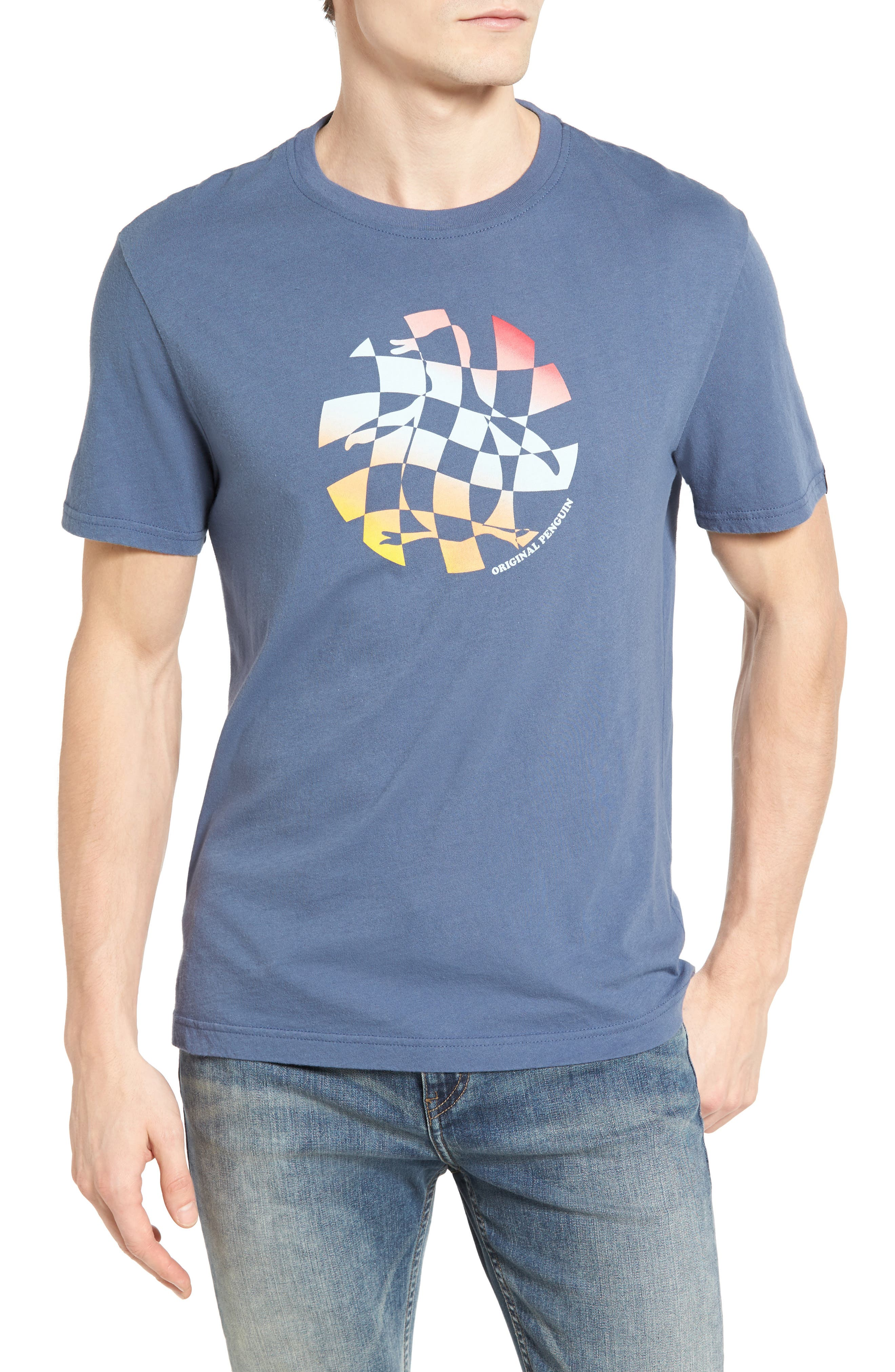 ORIGINAL PENGUIN Checkboard Pete Graphic T-Shirt