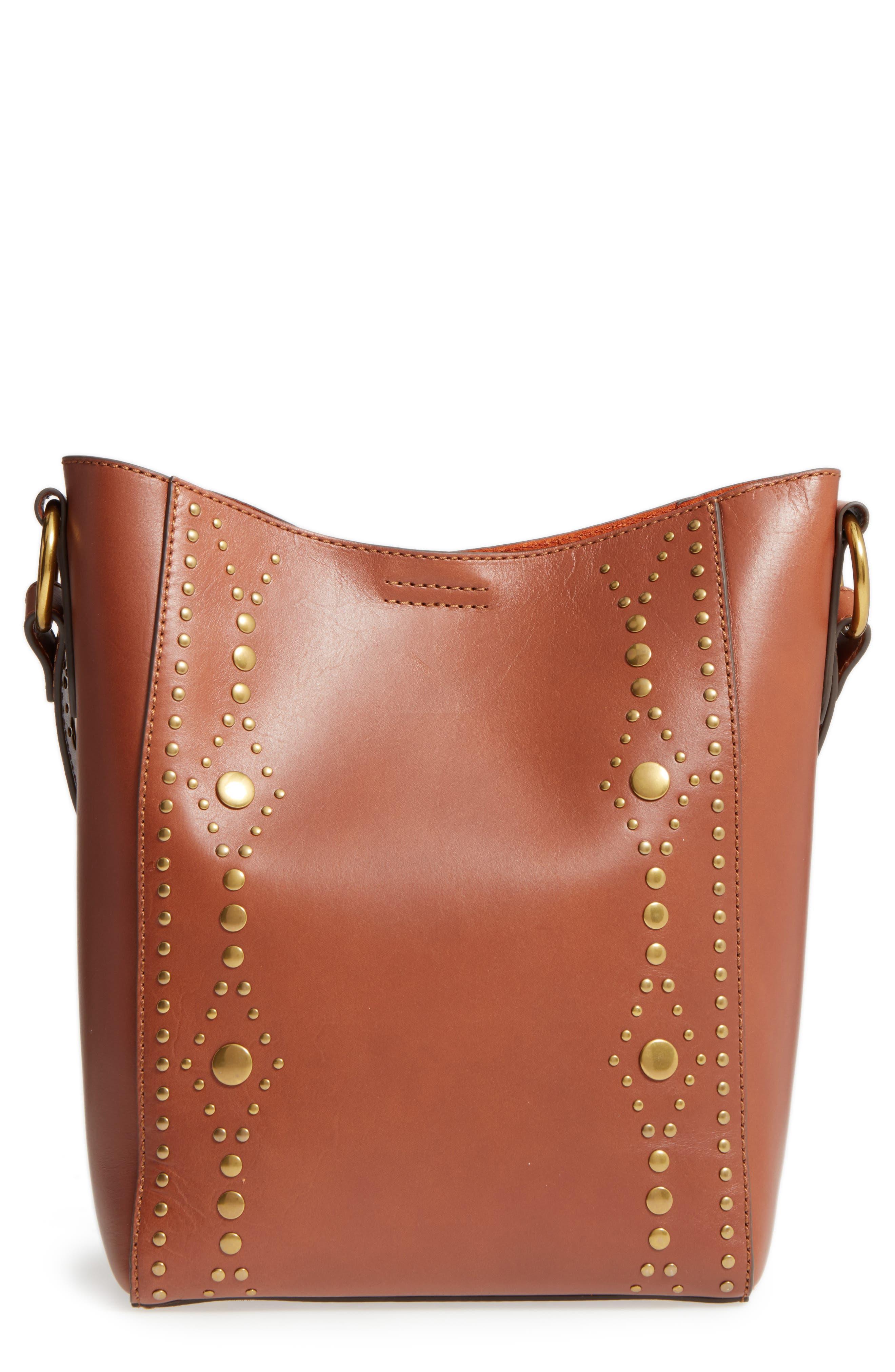 Frye Harness Calfskin Leather Bucket Bag
