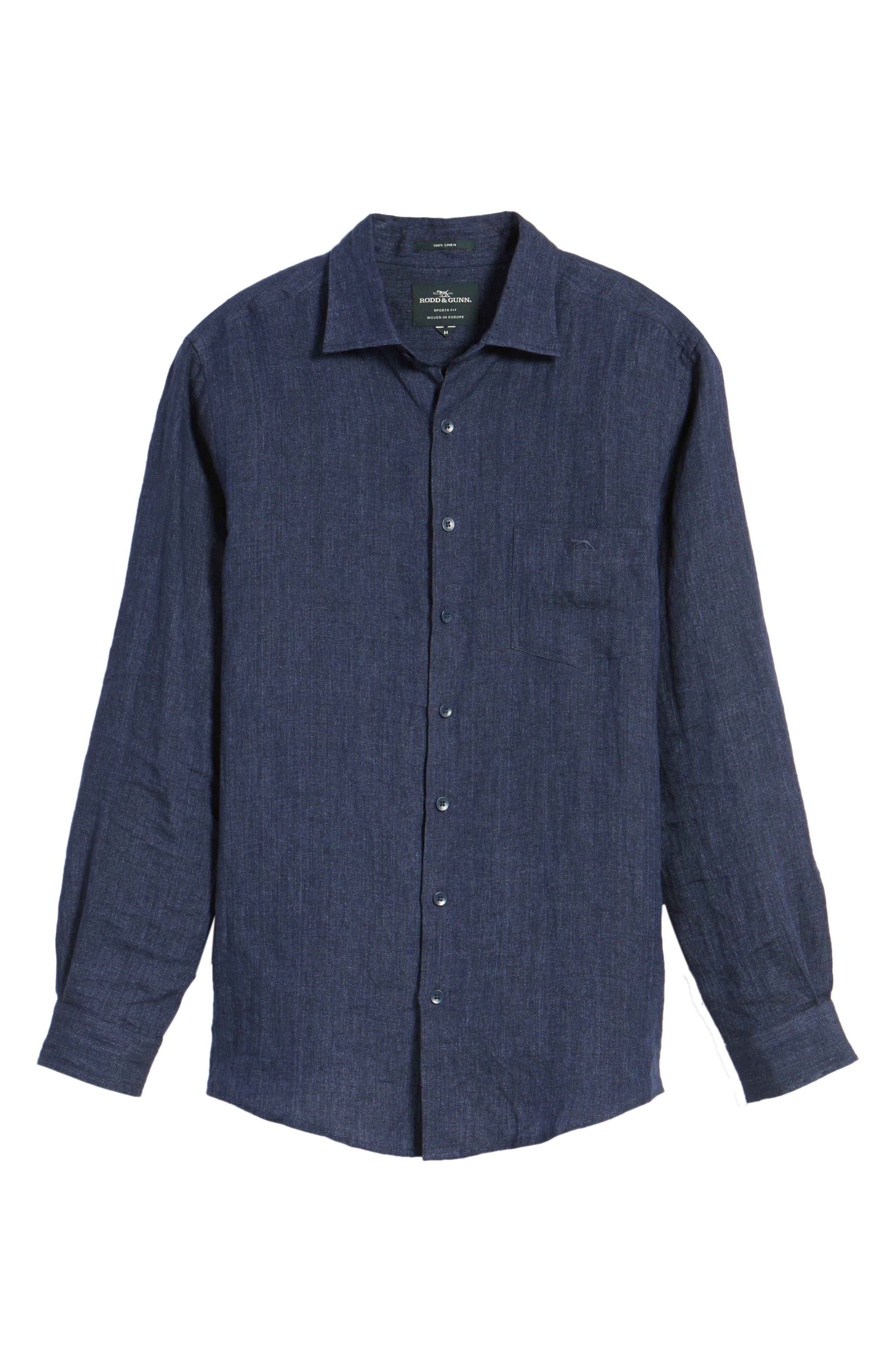 Alternate Image 6  - Rodd & Gunn Mount Bruce Sports Fit Linen Sport Shirt