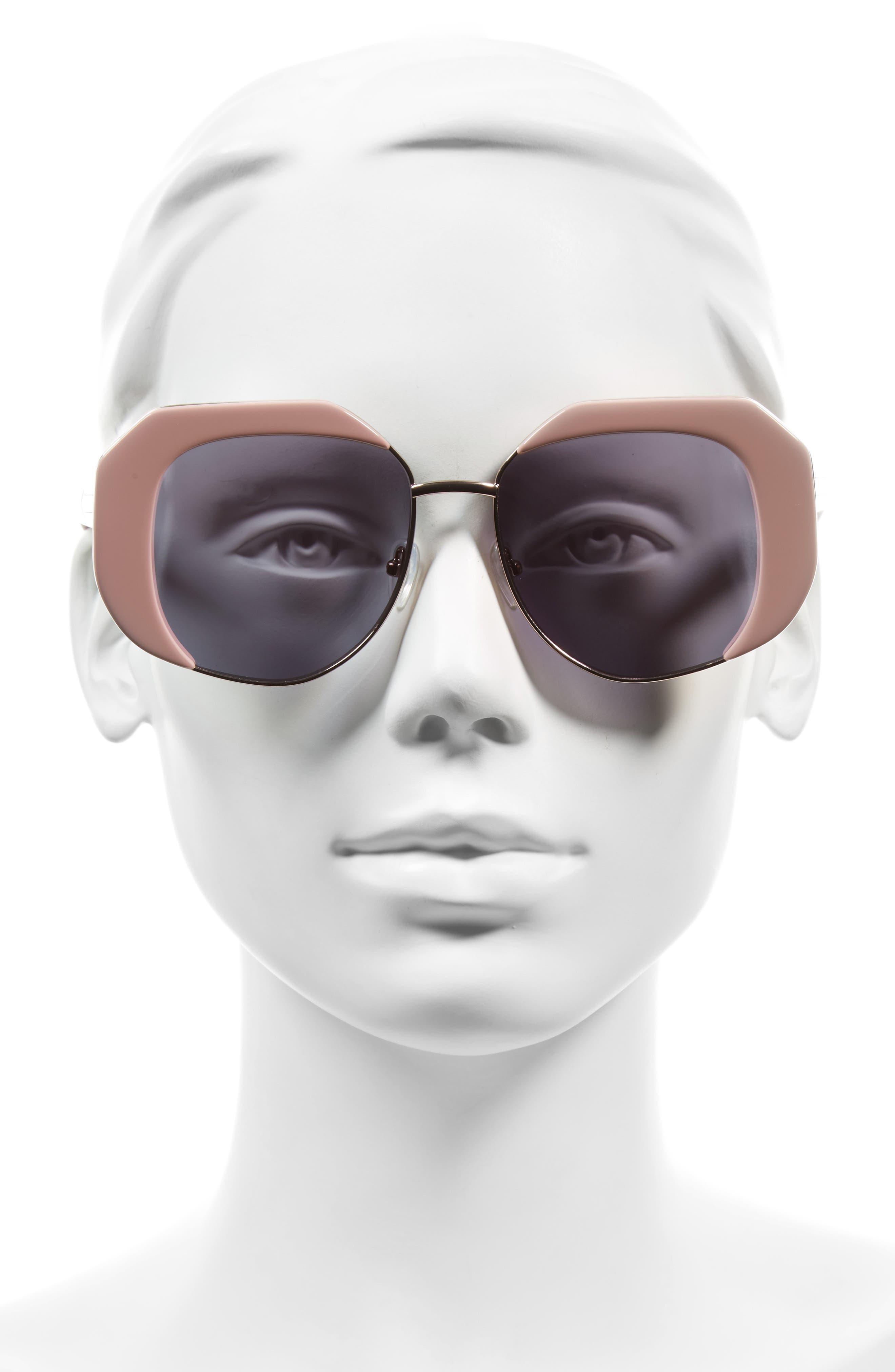 Domingo 52mm Sunglasses,                             Alternate thumbnail 2, color,                             Pink/ Rose Gold