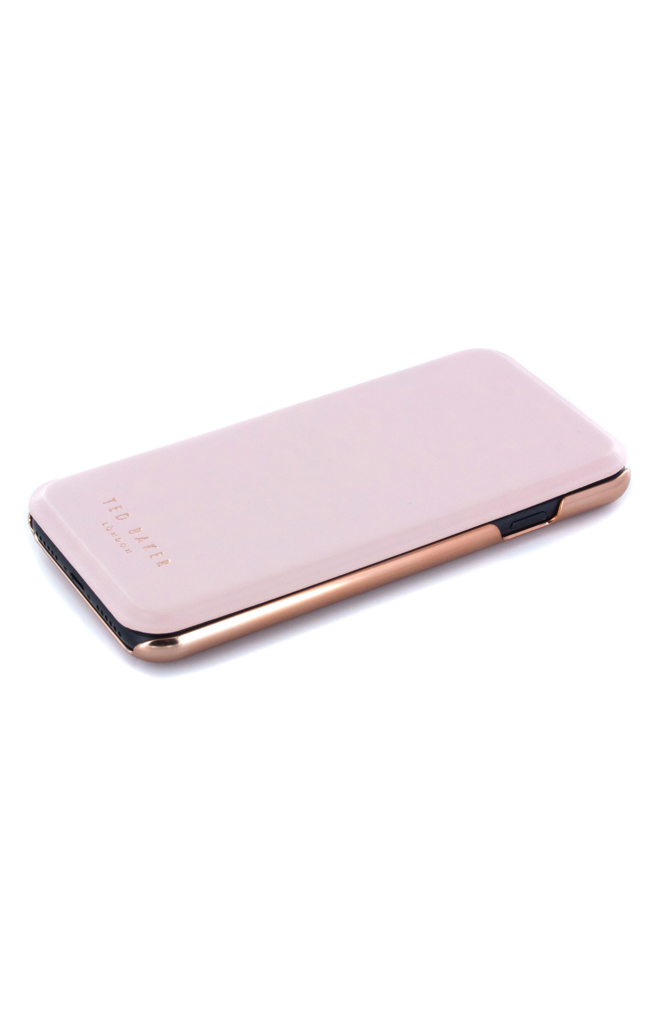 Shannon iPhone 6/6s/7/8 & 6/6s/7/8 Plus Mirror Folio Case,                             Alternate thumbnail 5, color,                             Light Pink