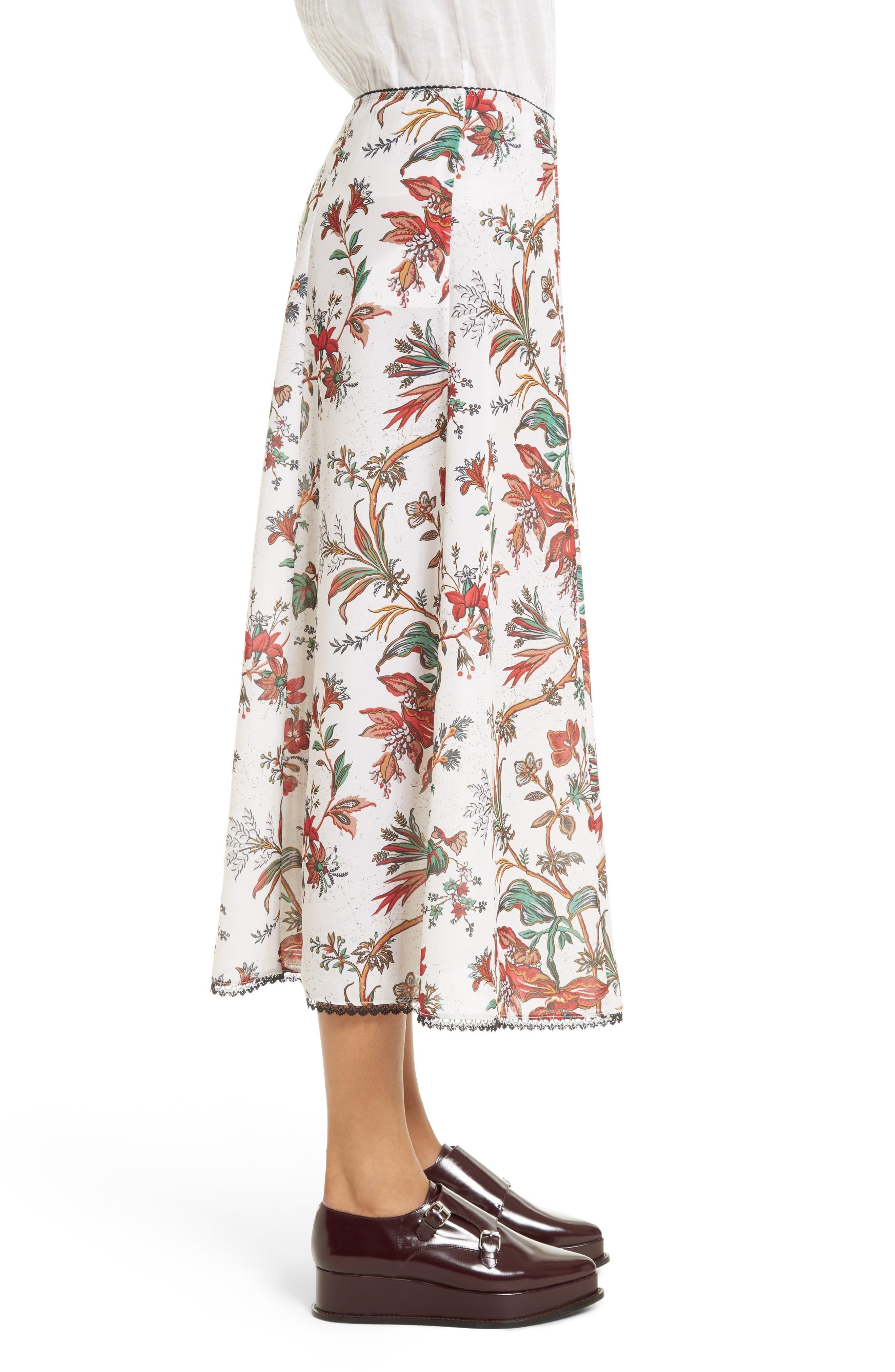 Alternate Image 4  - McQ Alexander McQueen Floral Print Skirt