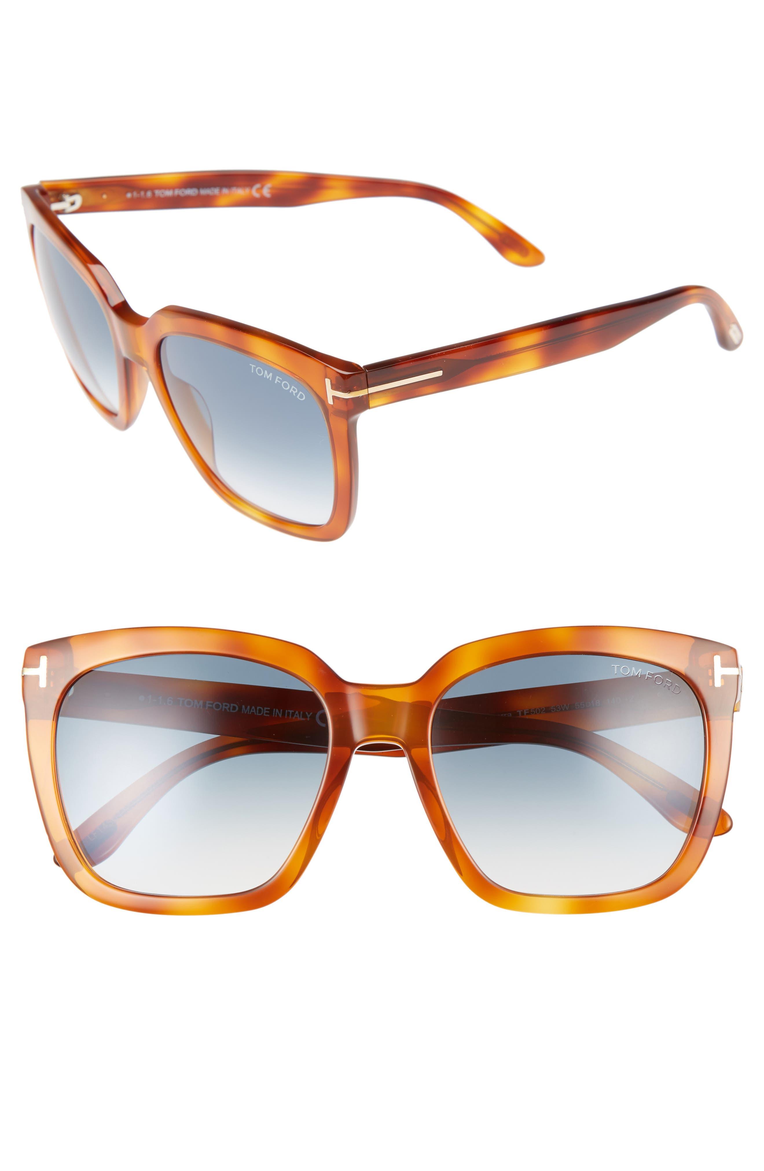 Main Image - Tom Ford Amarra 55mm Gradient Lens Square Sunglasses