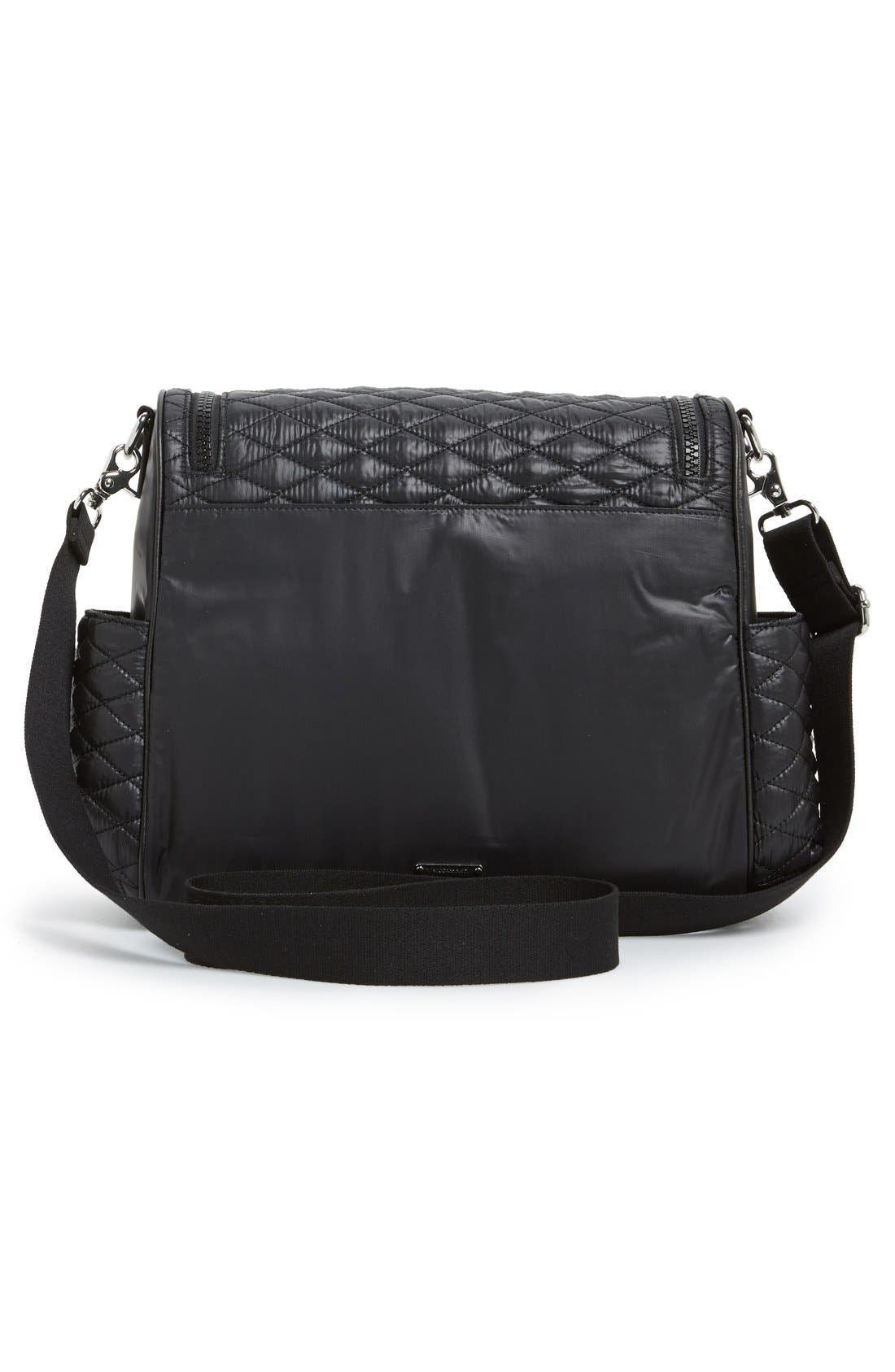 'Jude' Nylon Baby Bag,                             Alternate thumbnail 4, color,                             Black