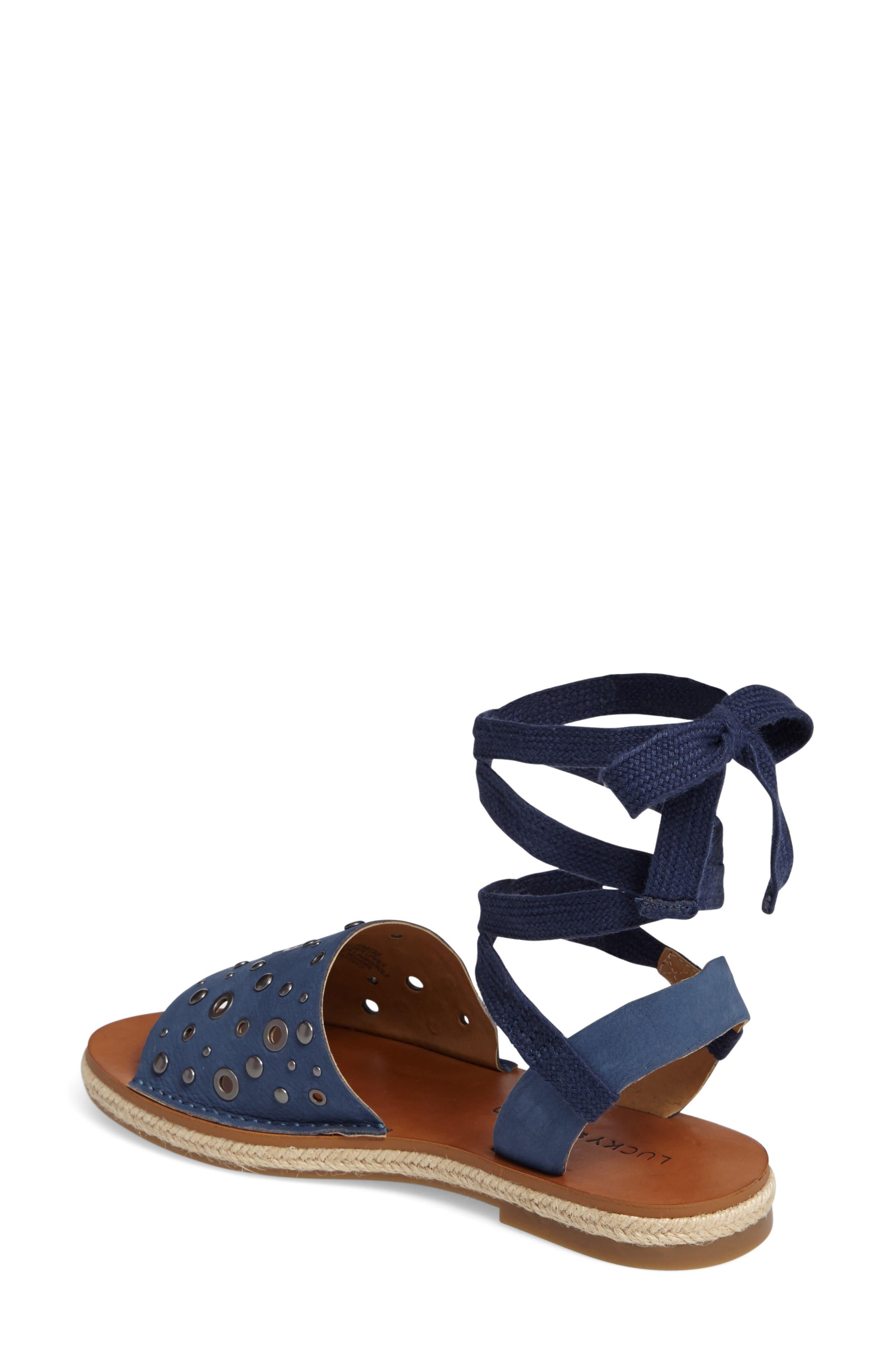 Daytah Ankle Tie Sandal,                             Alternate thumbnail 2, color,                             Dark Chambray