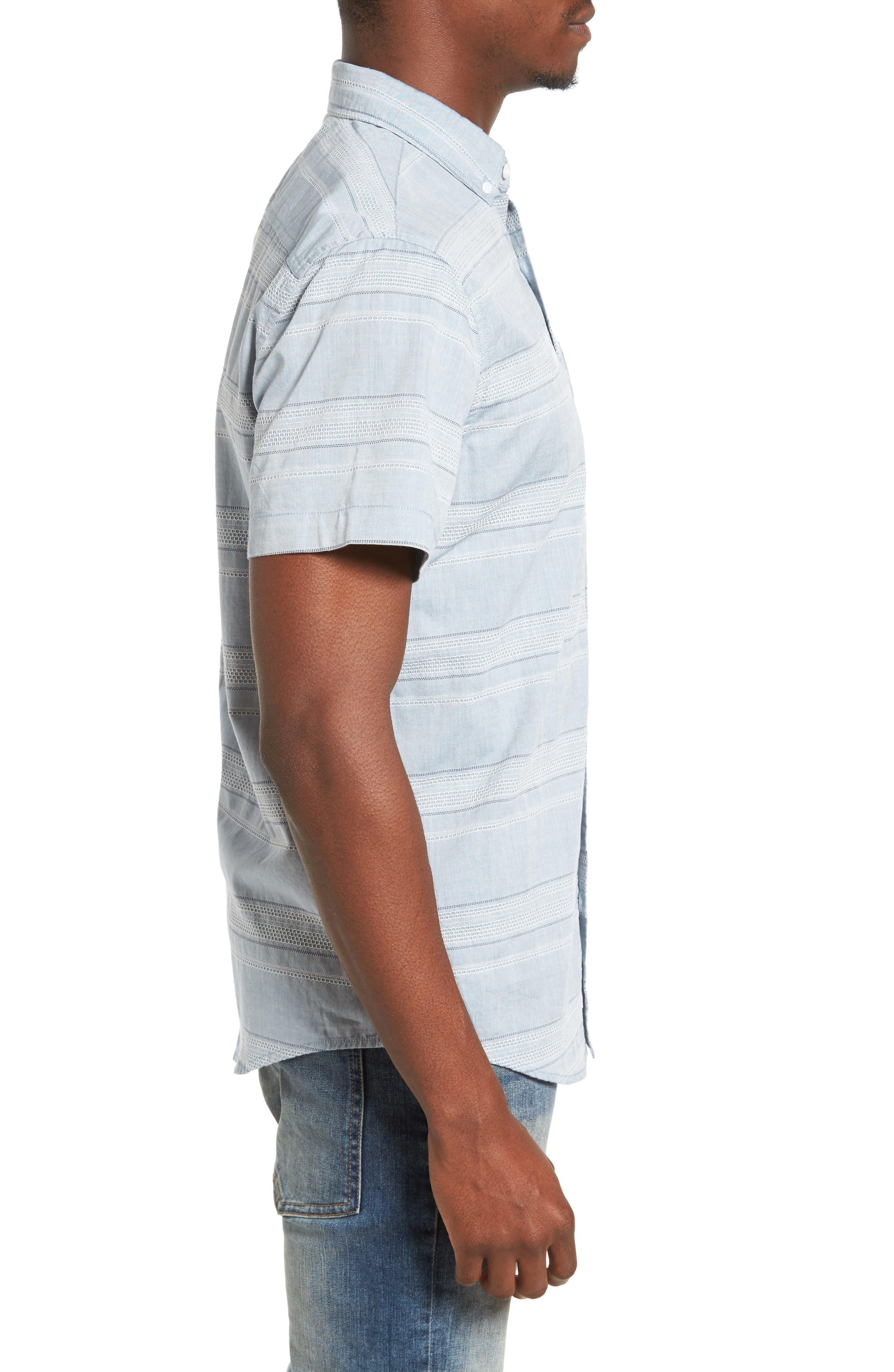 Alternate Image 3  - 1901 Jacquard Trim Fit Sport Shirt