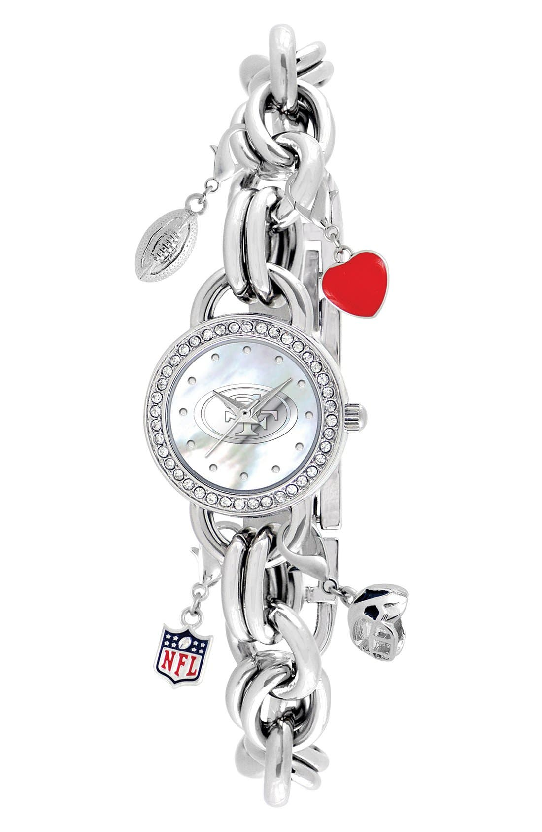 Main Image - Game Time Watches 'NFL - San Francisco 49ers' Charm Bracelet Watch, 23mm