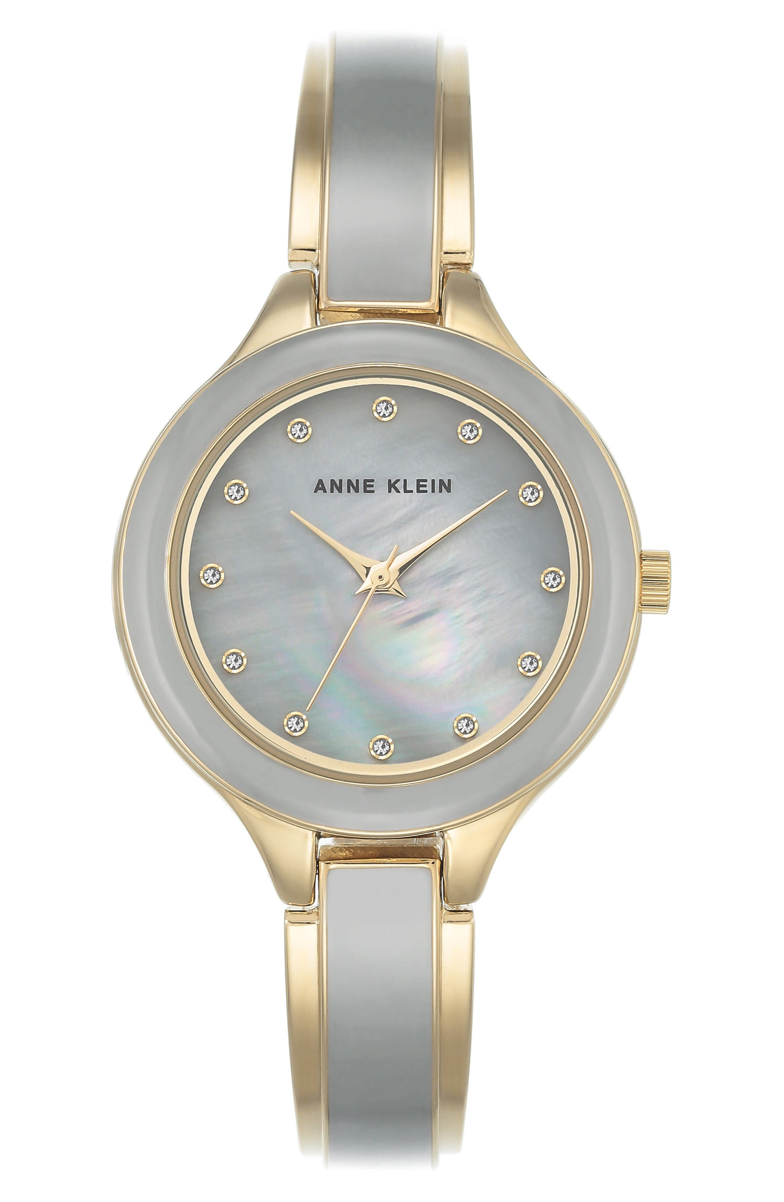 Main Image - Anne Klein Enamel Bangle Watch, 32mm