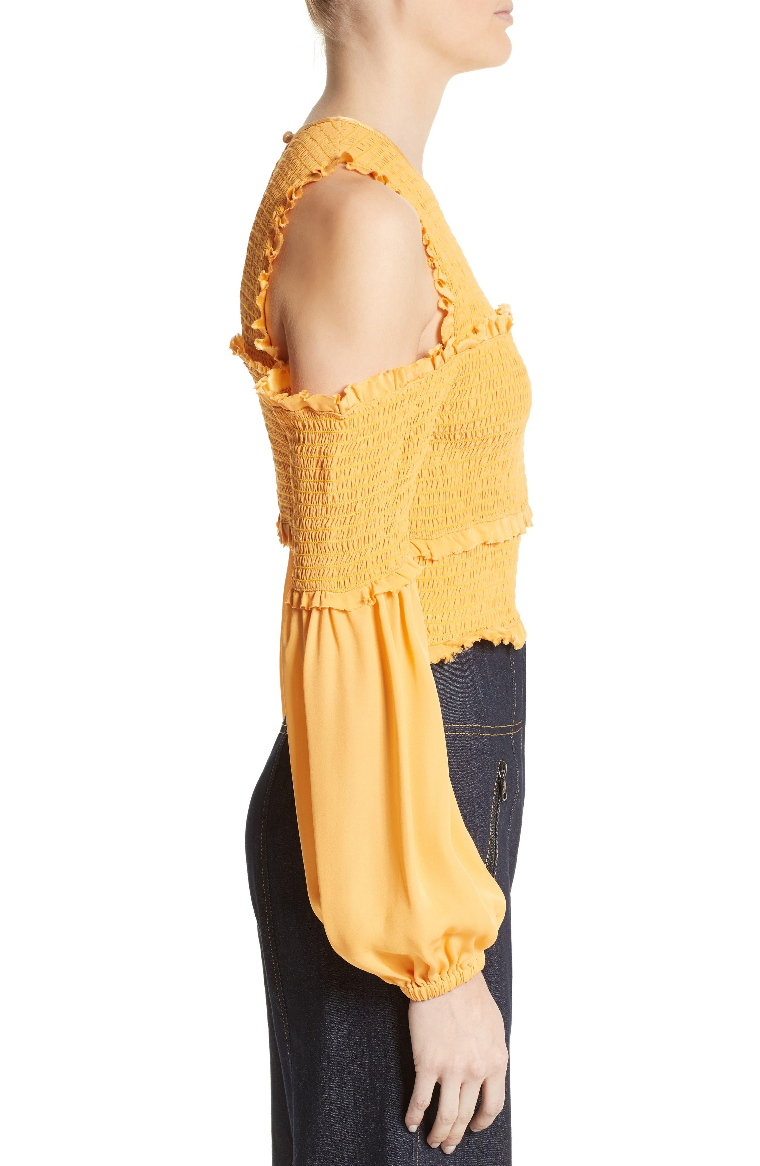 Alternate Image 3  - Cinq à Sept Pascal Silk Cold Shoulder Top