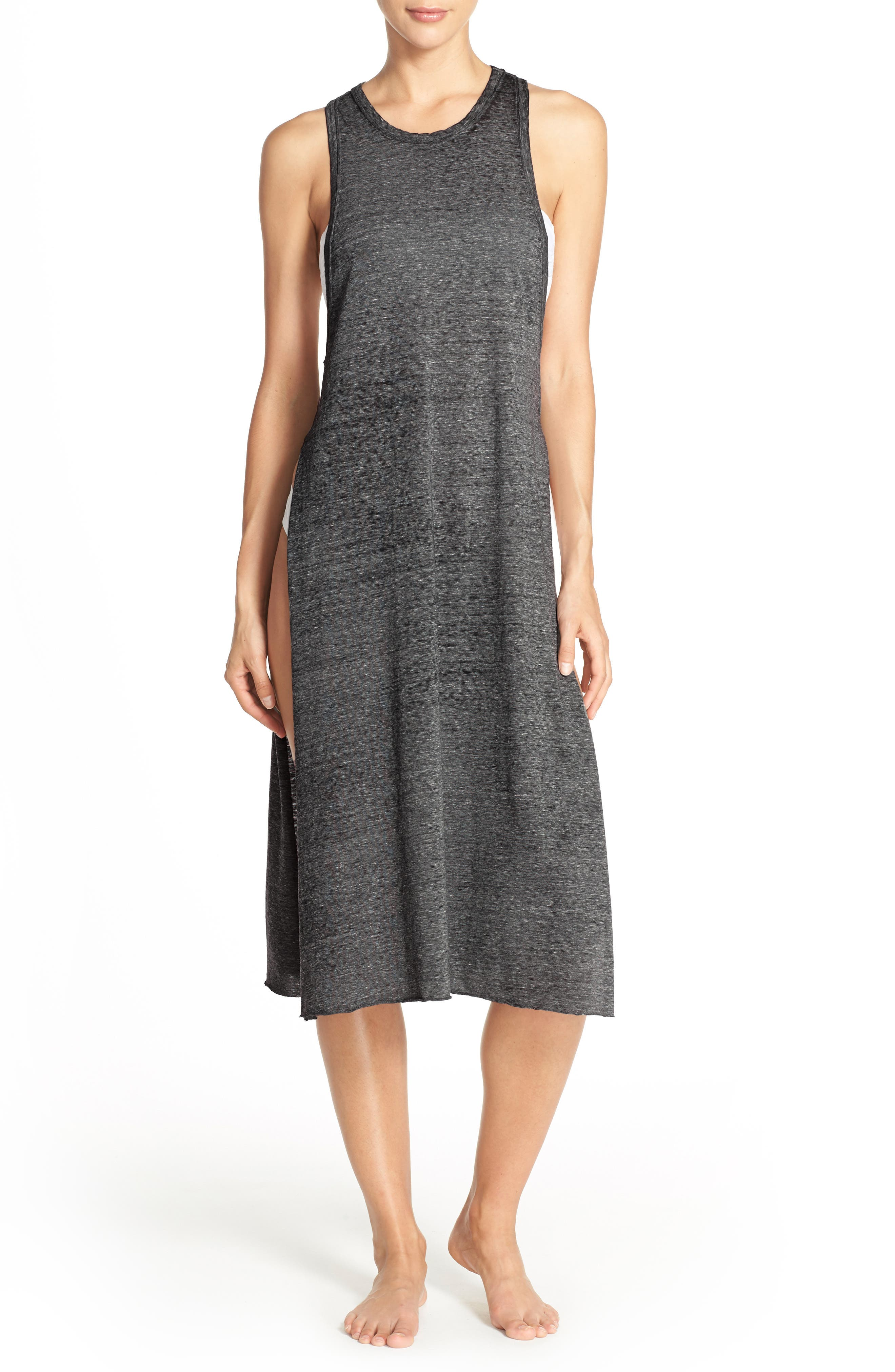 Leith Burnout Jersey Cover-Up Dress