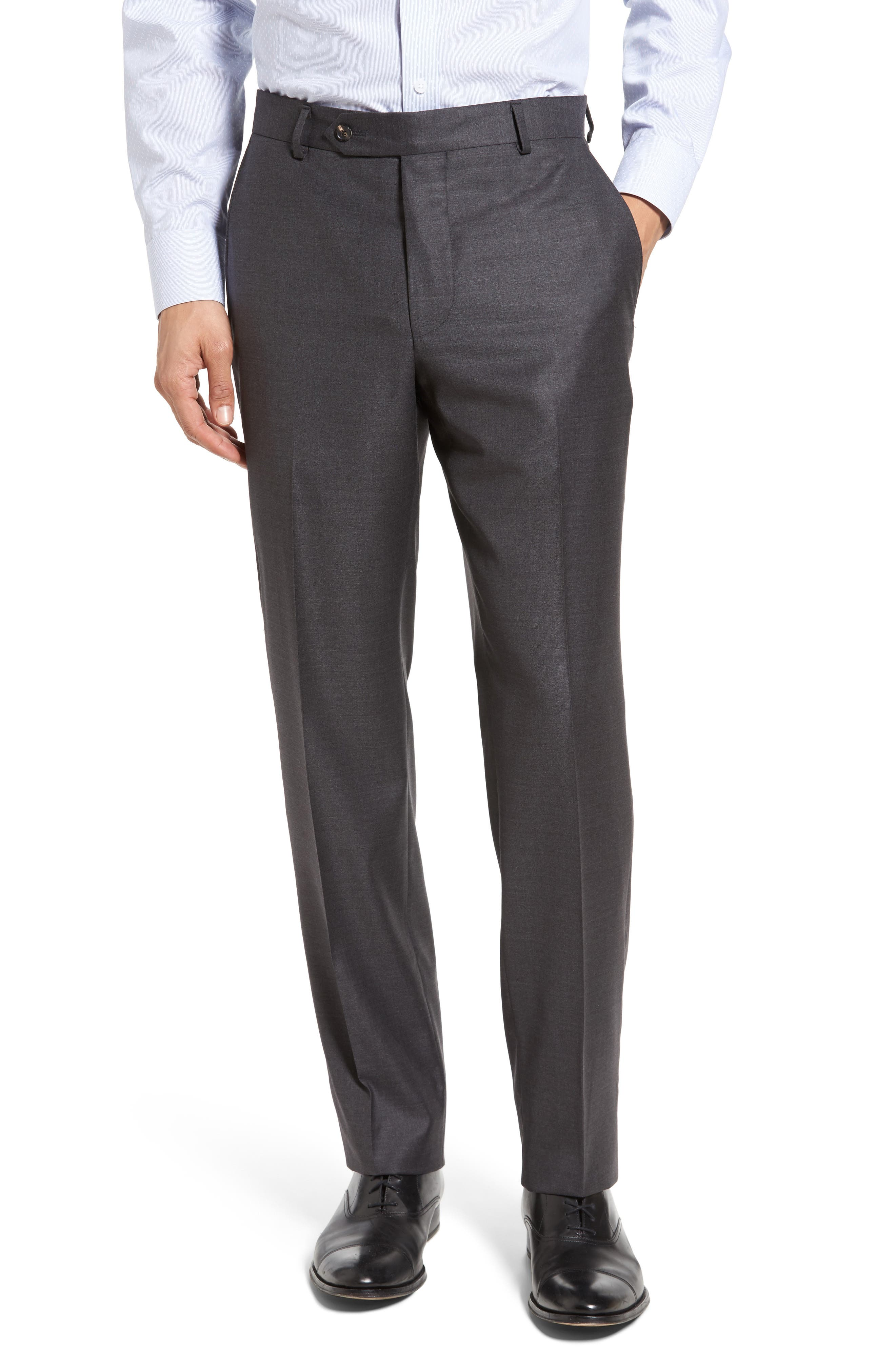 Beckett Classic Fit Solid Wool Suit,                             Alternate thumbnail 6, color,                             Mid Grey