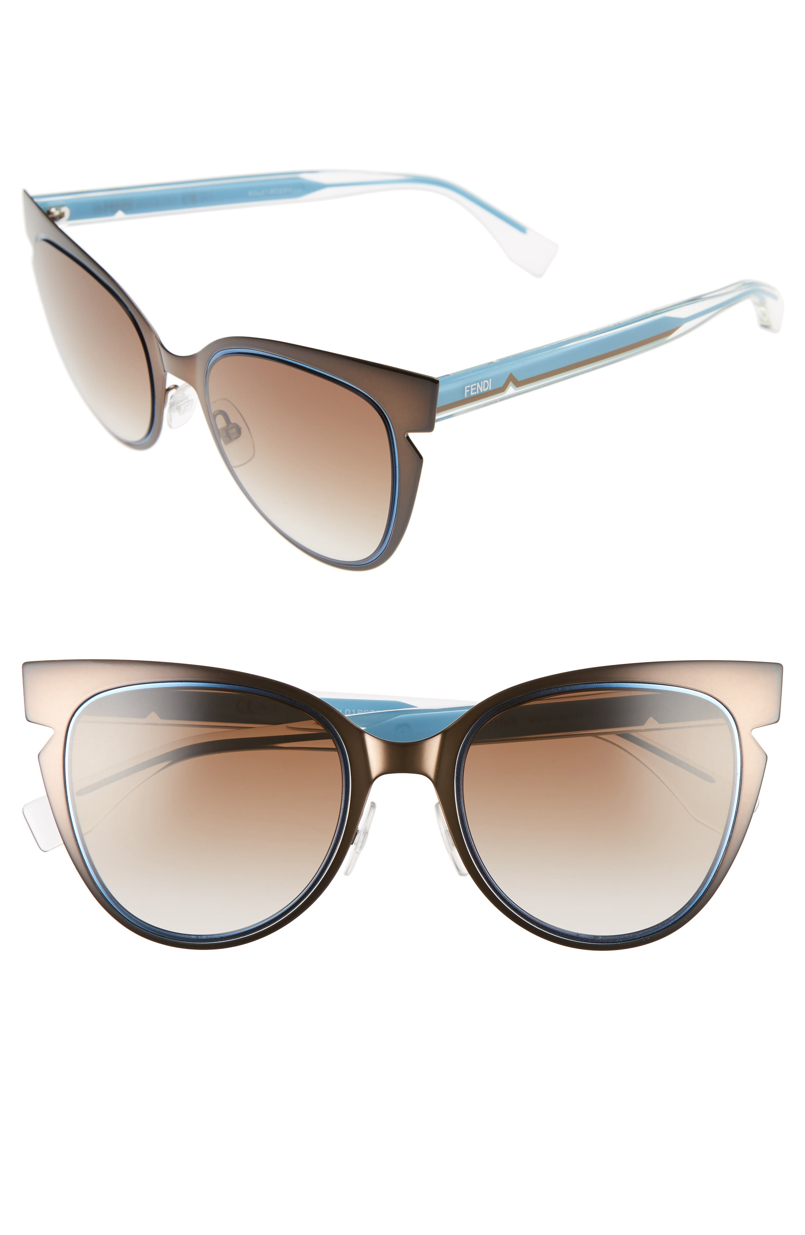 Alternate Image 1 Selected - Fendi 52mm Cat Eye Sunglasses