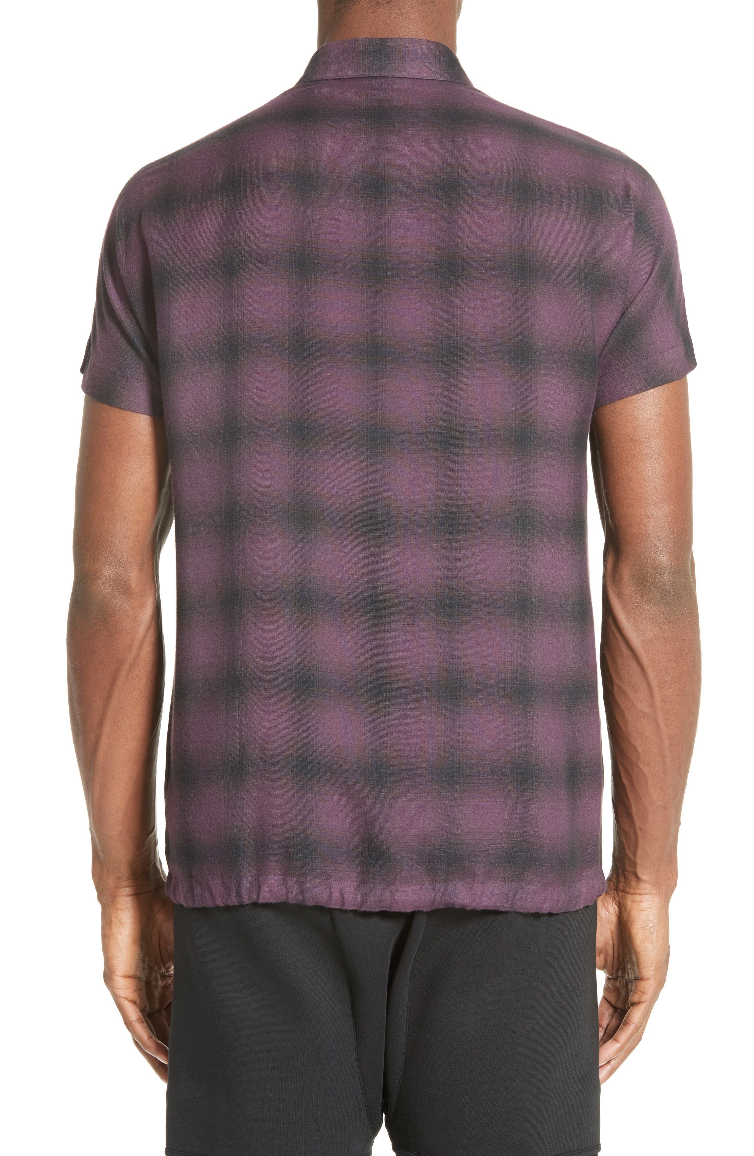 Alternate Image 2  - Helmut Lang Ombré Check Short Sleeve Sport Shirt