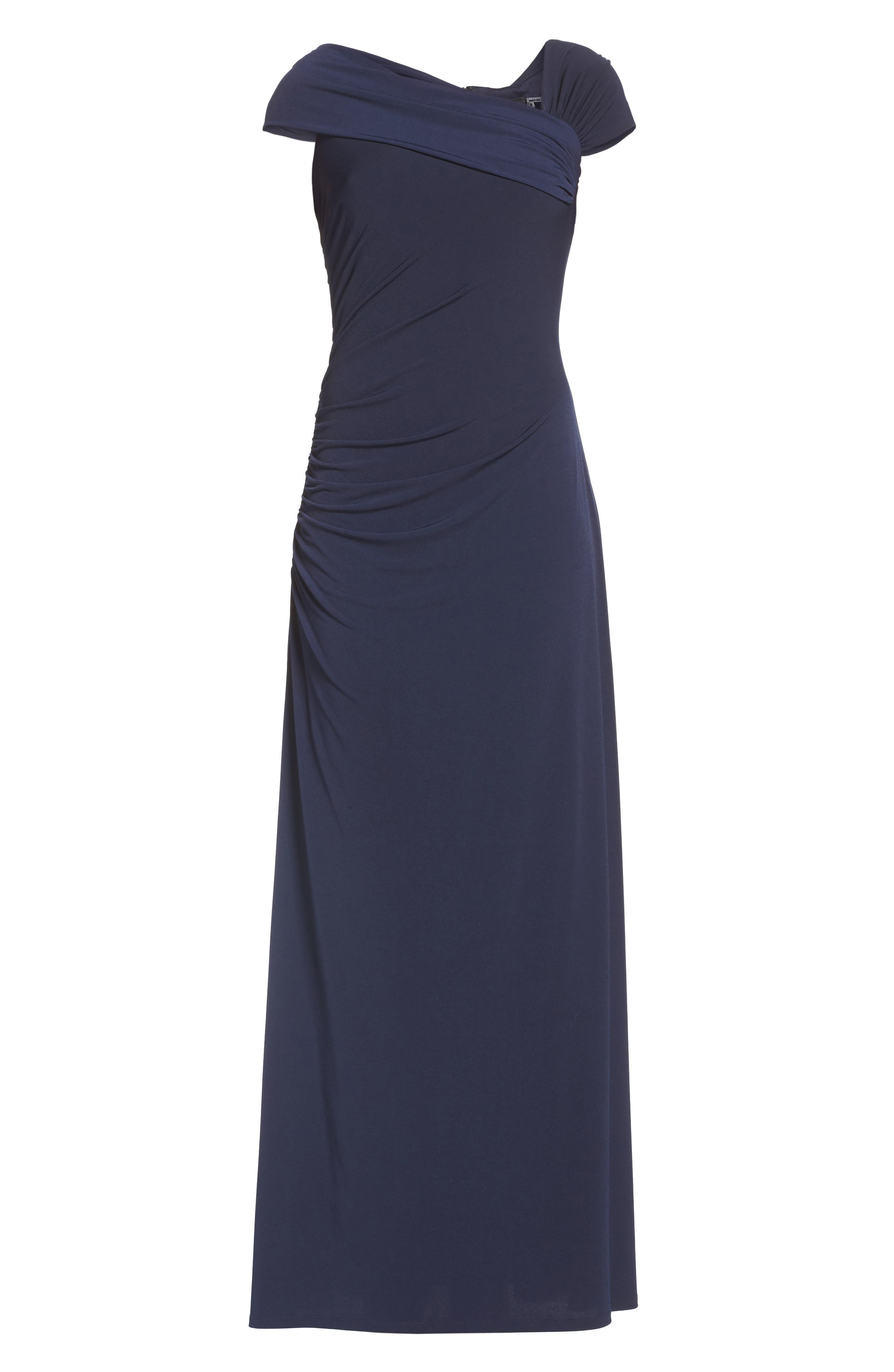 Jersey Gown,                             Alternate thumbnail 6, color,                             Navy