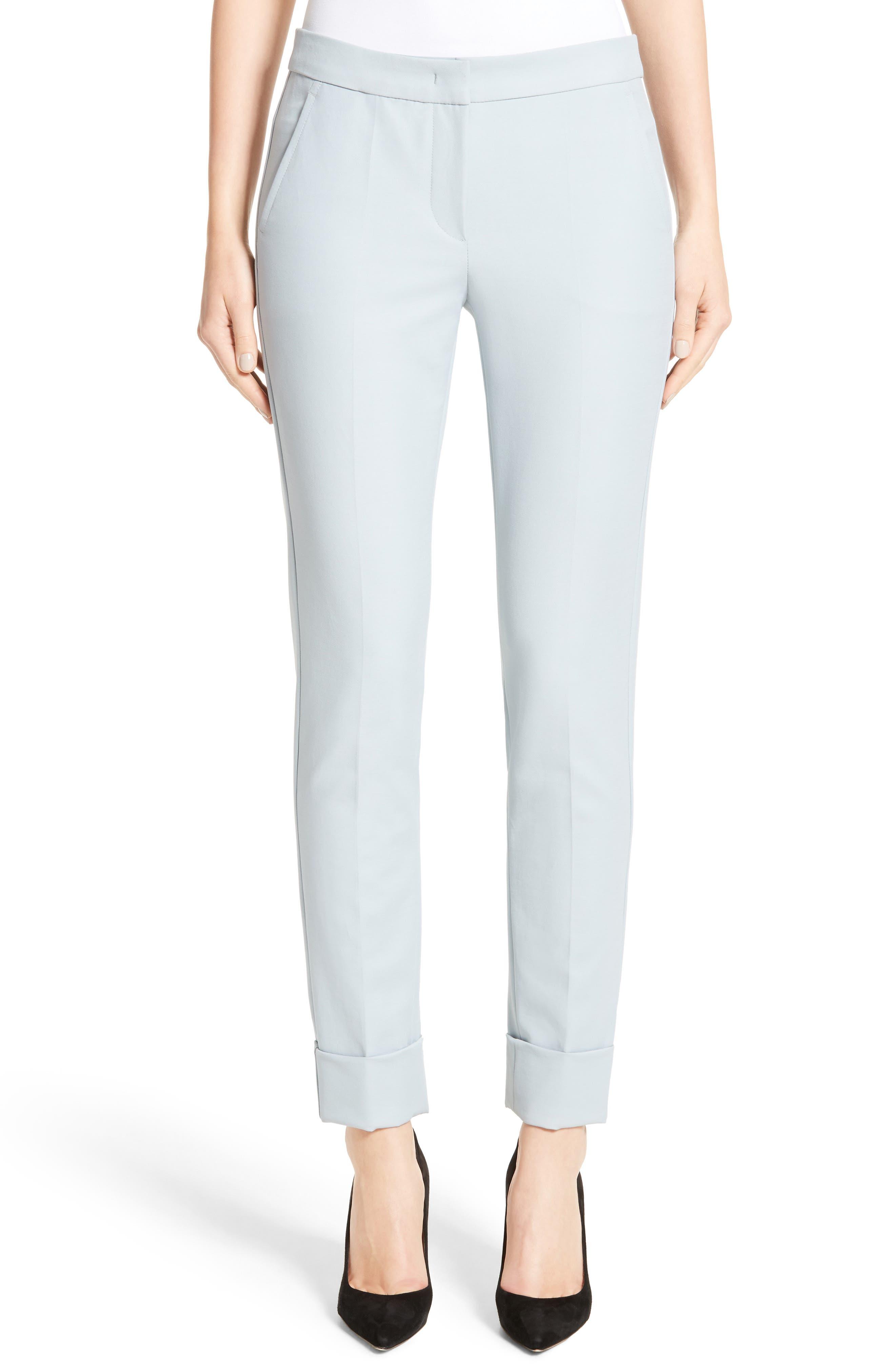 Armani Collezion Tech Cotton Cuff Pants,                         Main,                         color, Cloud