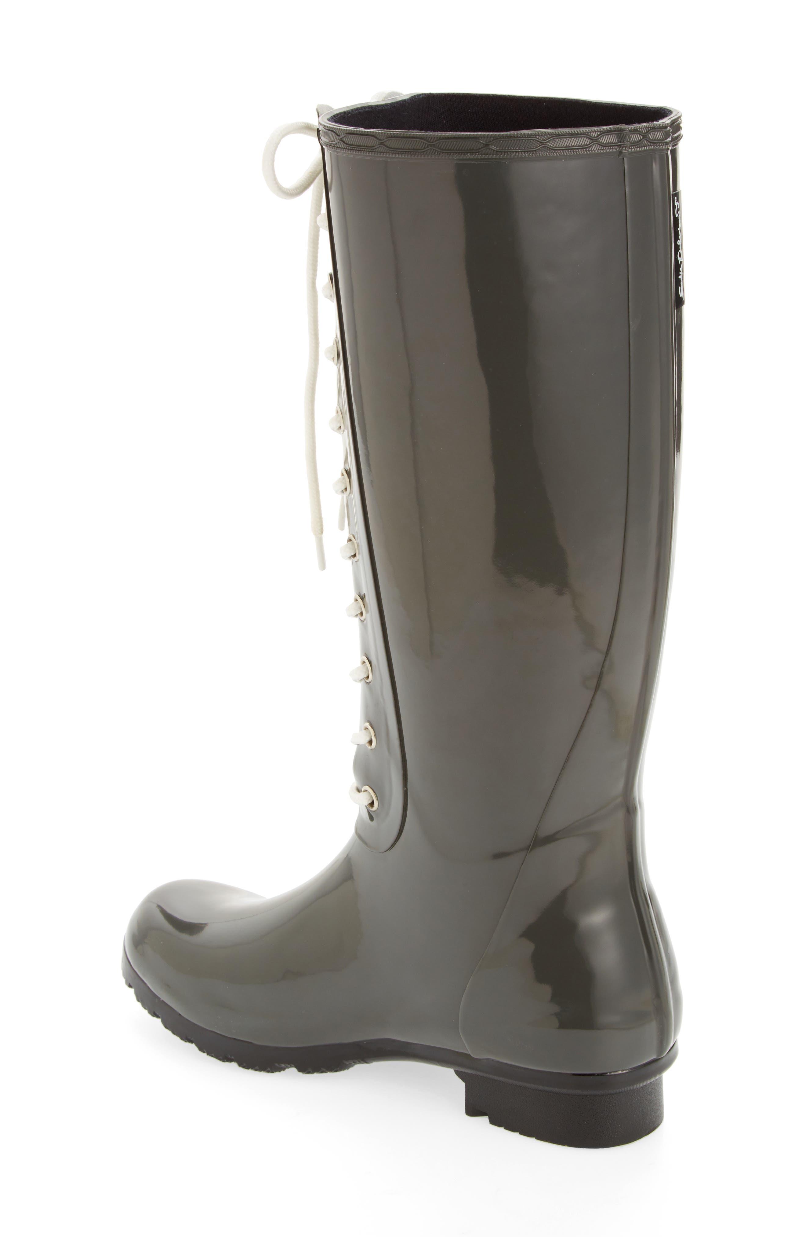 'Opinca' Waterproof Rain Boot,                             Alternate thumbnail 2, color,                             Kale