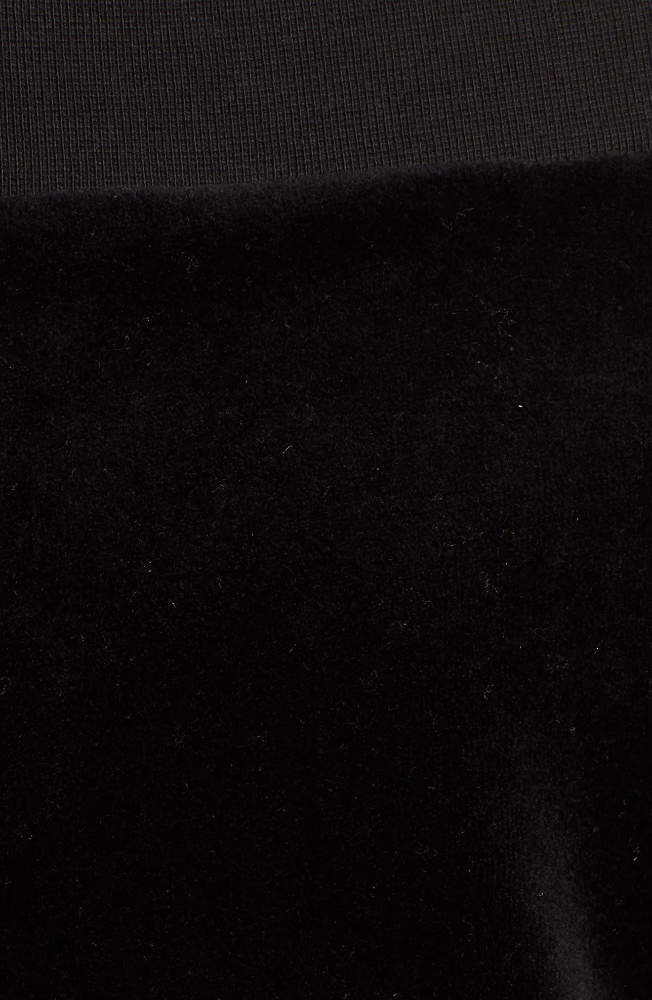 Alternate Image 5  - Juicy Couture Off the Shoulder Velour Track Jacket