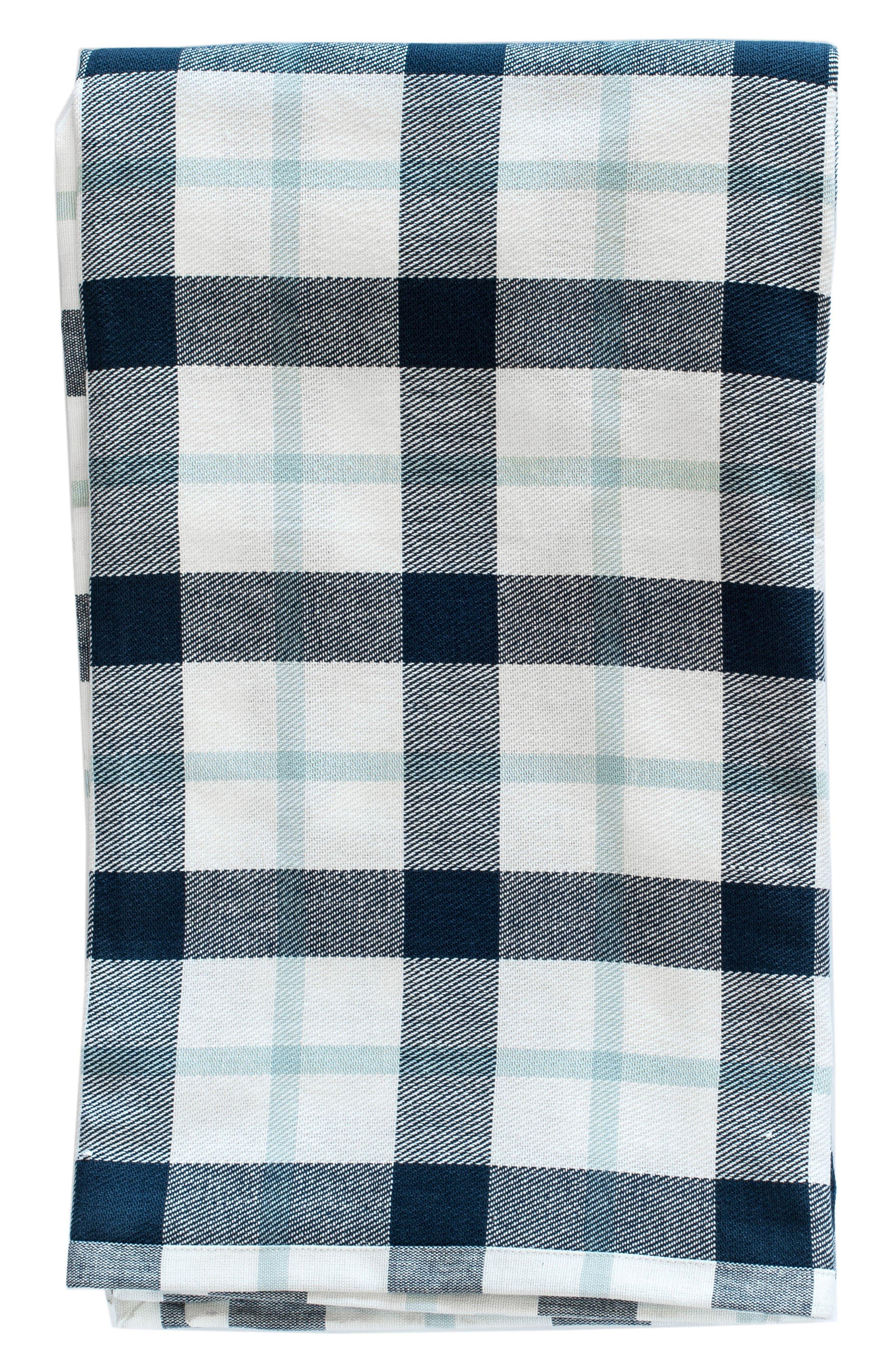 Kingsley Throw Blanket,                         Main,                         color, Navy