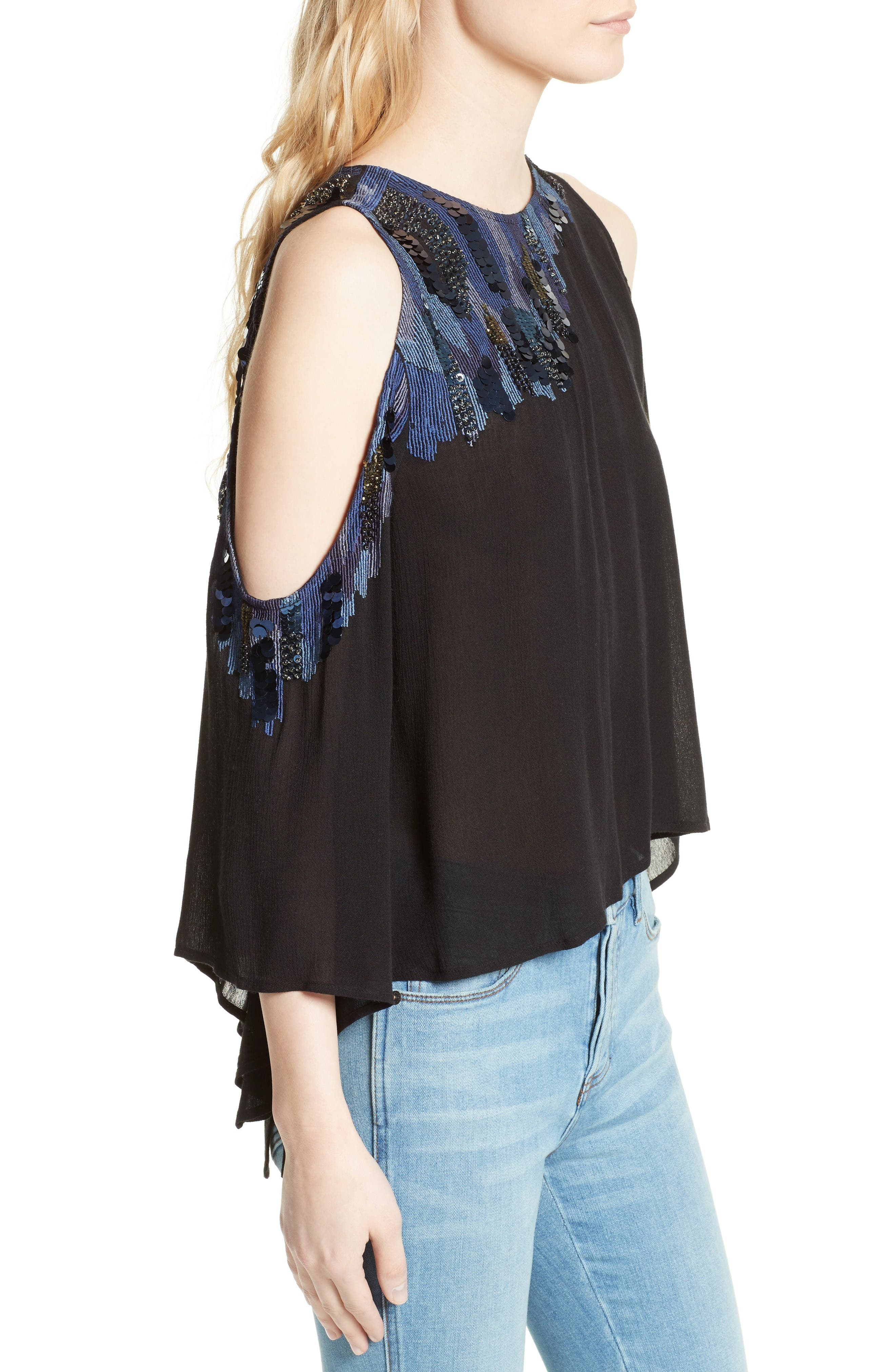 Alternate Image 3  - Free People All About You Embellished Cold Shoulder Top