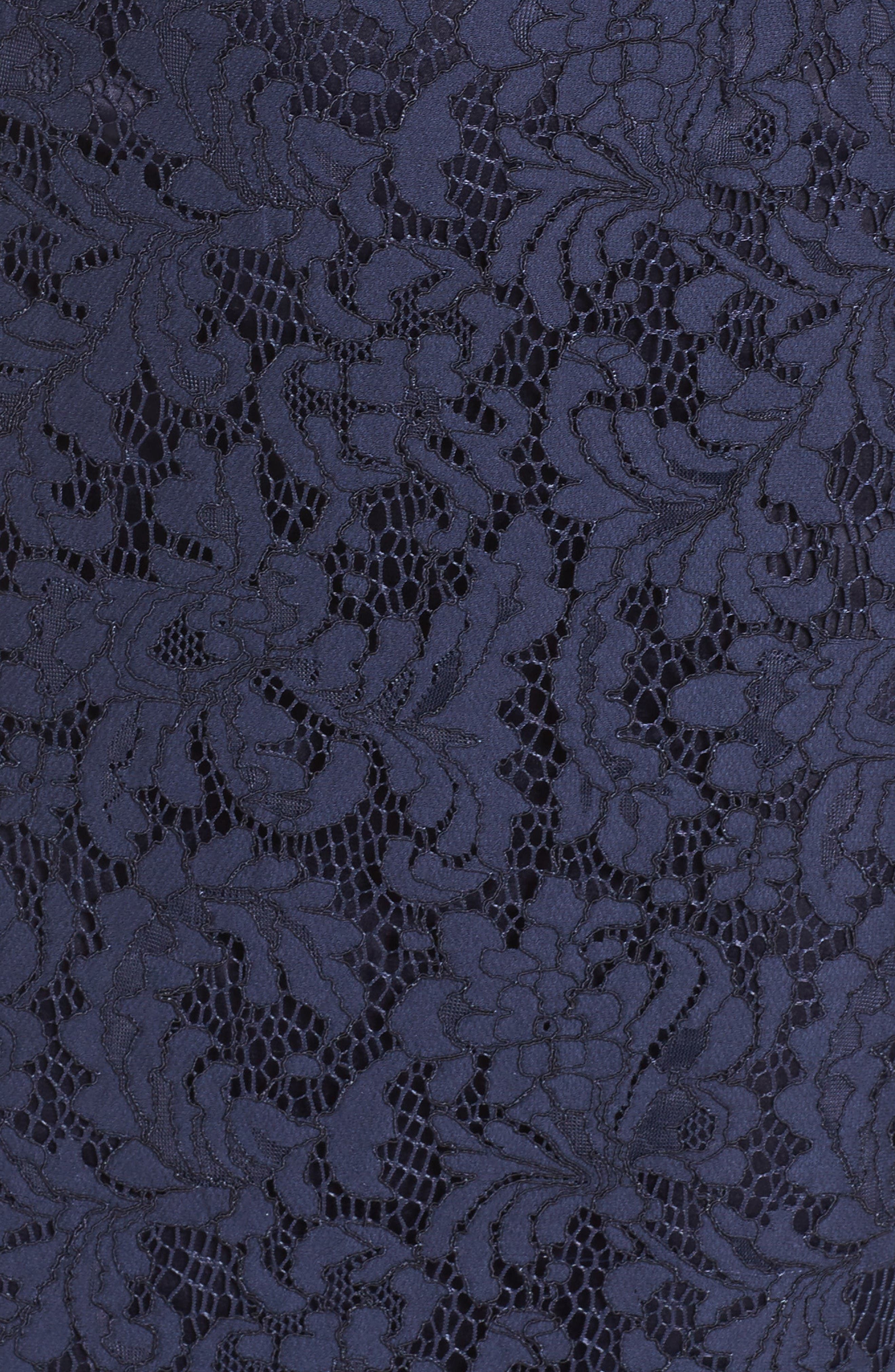 One-Shoulder Lace Dress,                             Alternate thumbnail 6, color,                             Navy