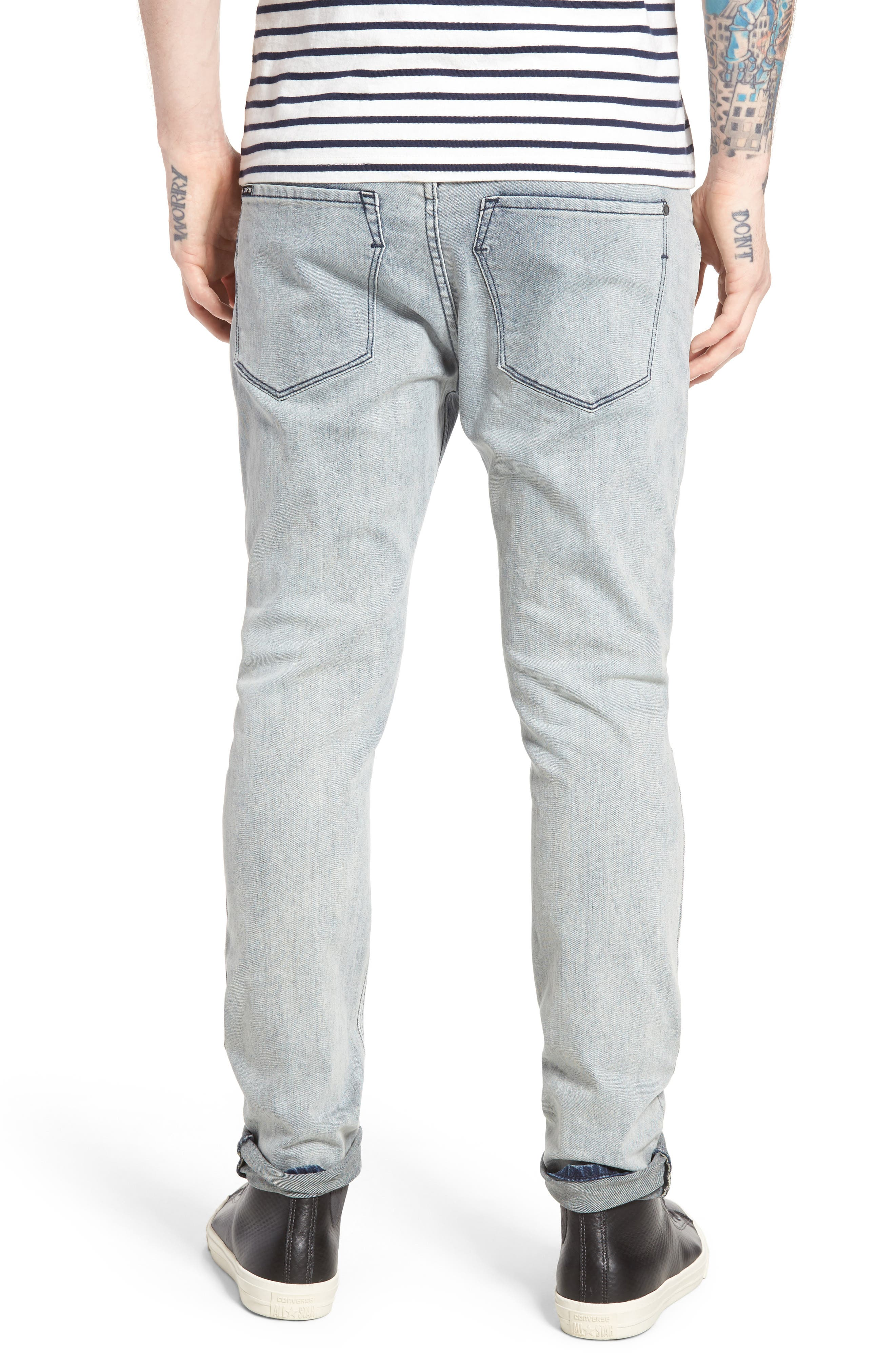 Alternate Image 2  - ZANEROBE Joe Blow Destroyed Denim Jeans (Smooth Blue)