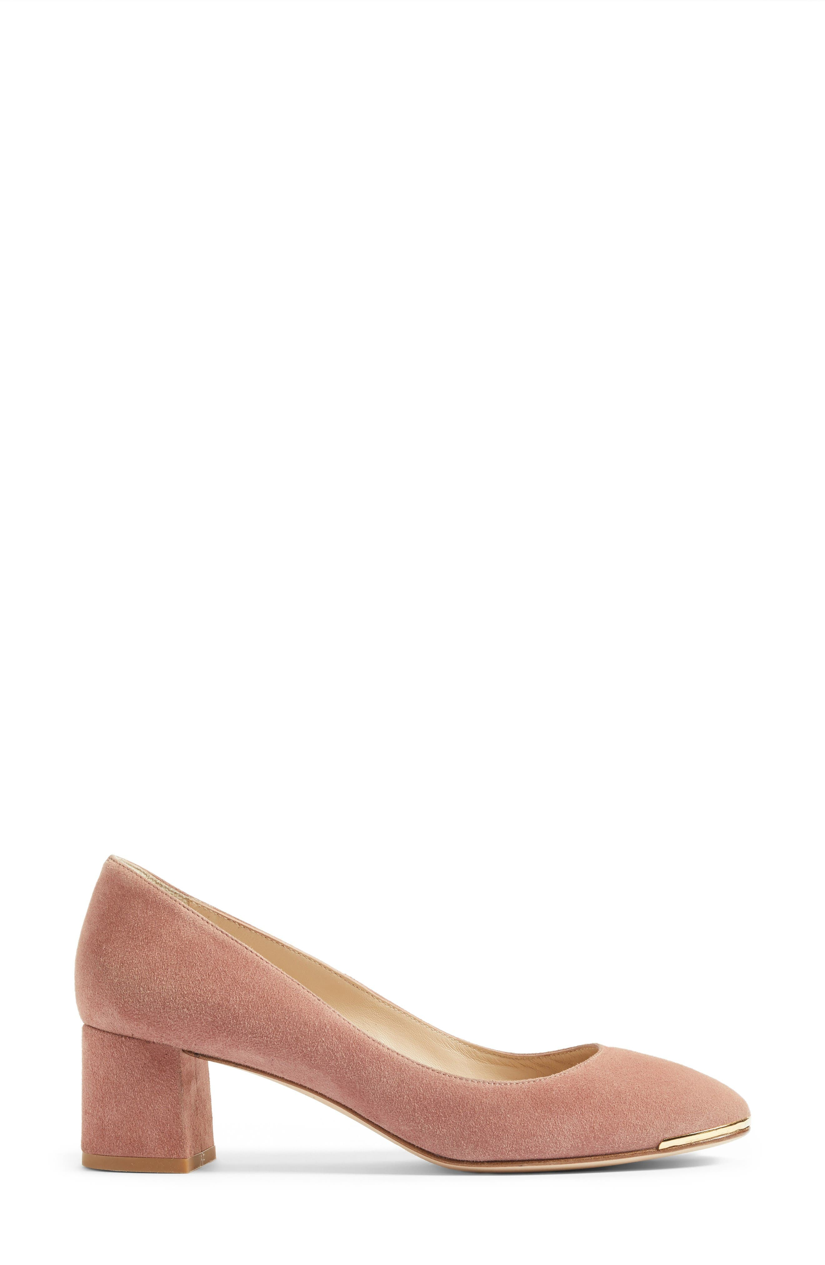 Clemence Pump,                             Alternate thumbnail 3, color,                             Pink/ Dark Pink
