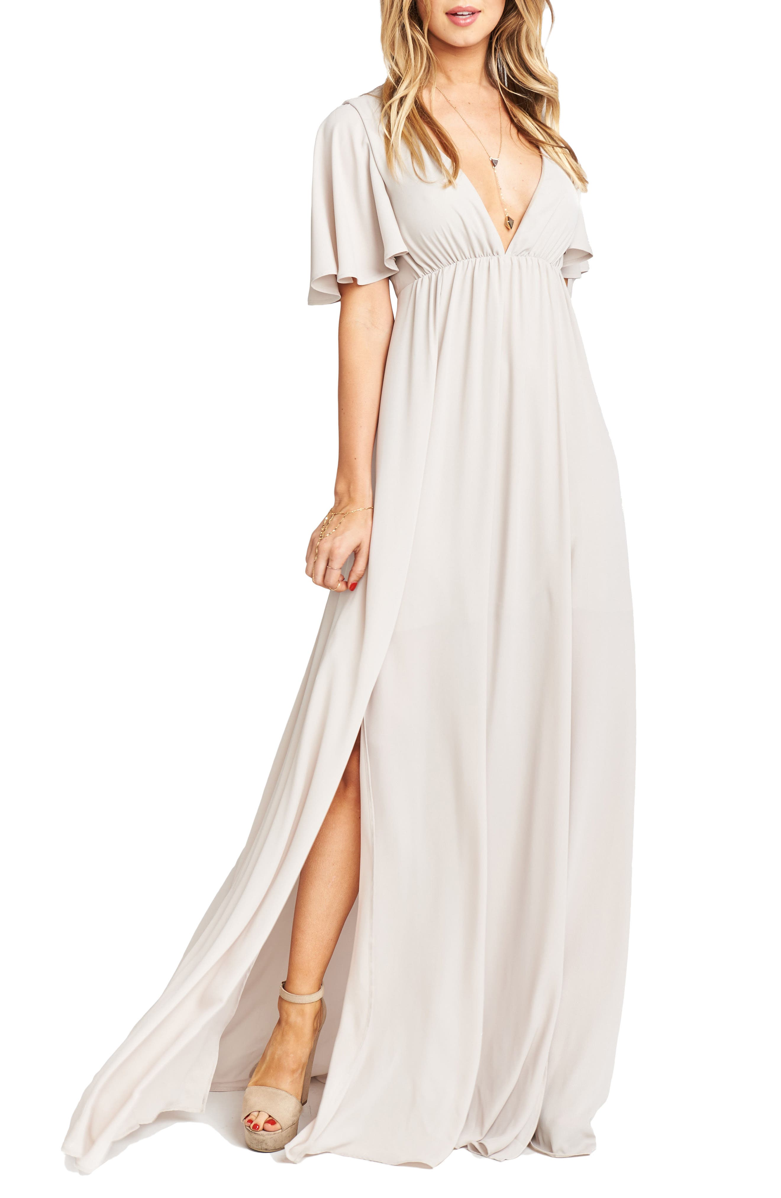 Faye Chiffon Gown,                         Main,                         color, Show Me The Ring
