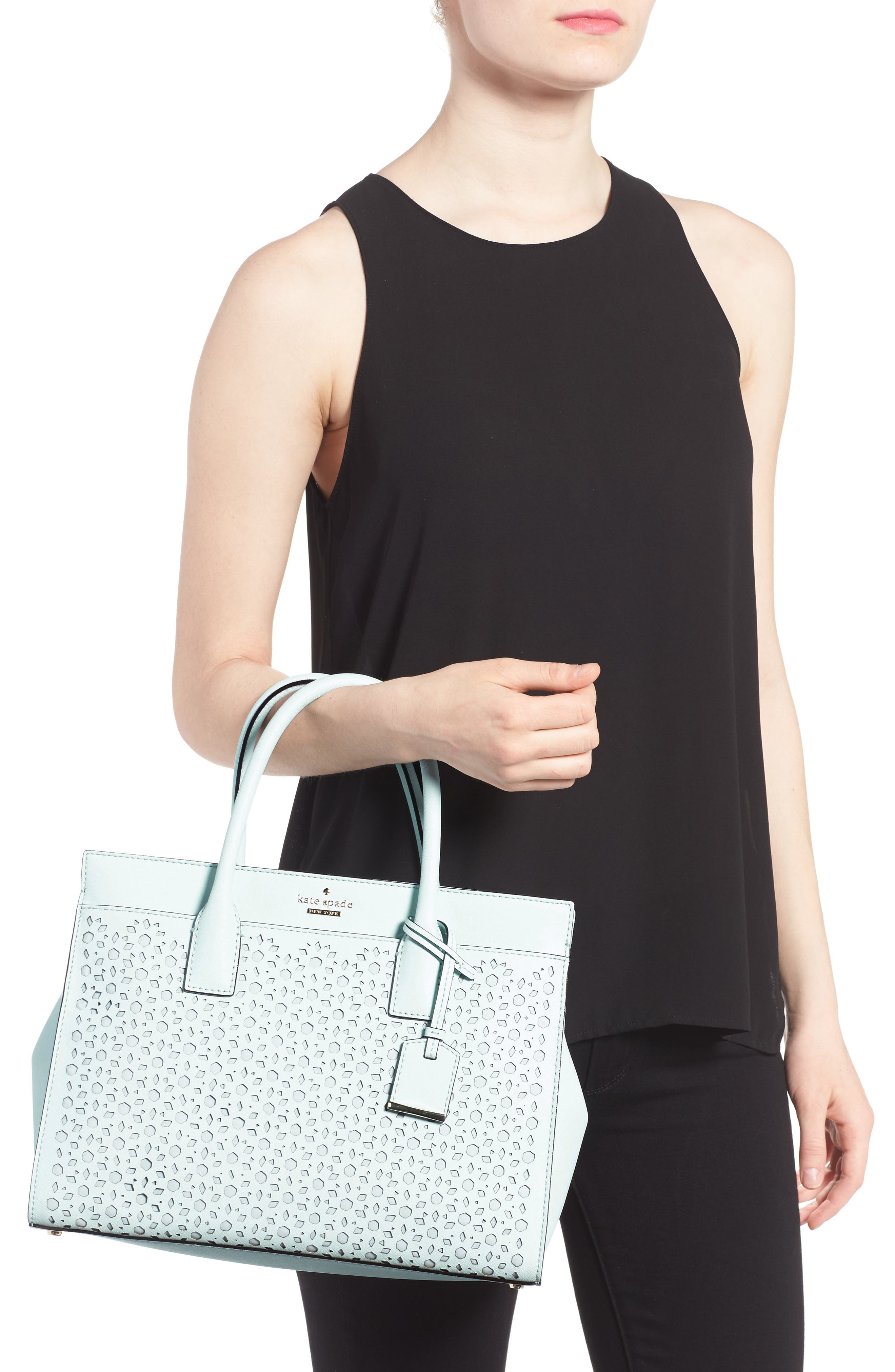 Alternate Image 2  - kate spade new york cameron street - candace perforated leather satchel