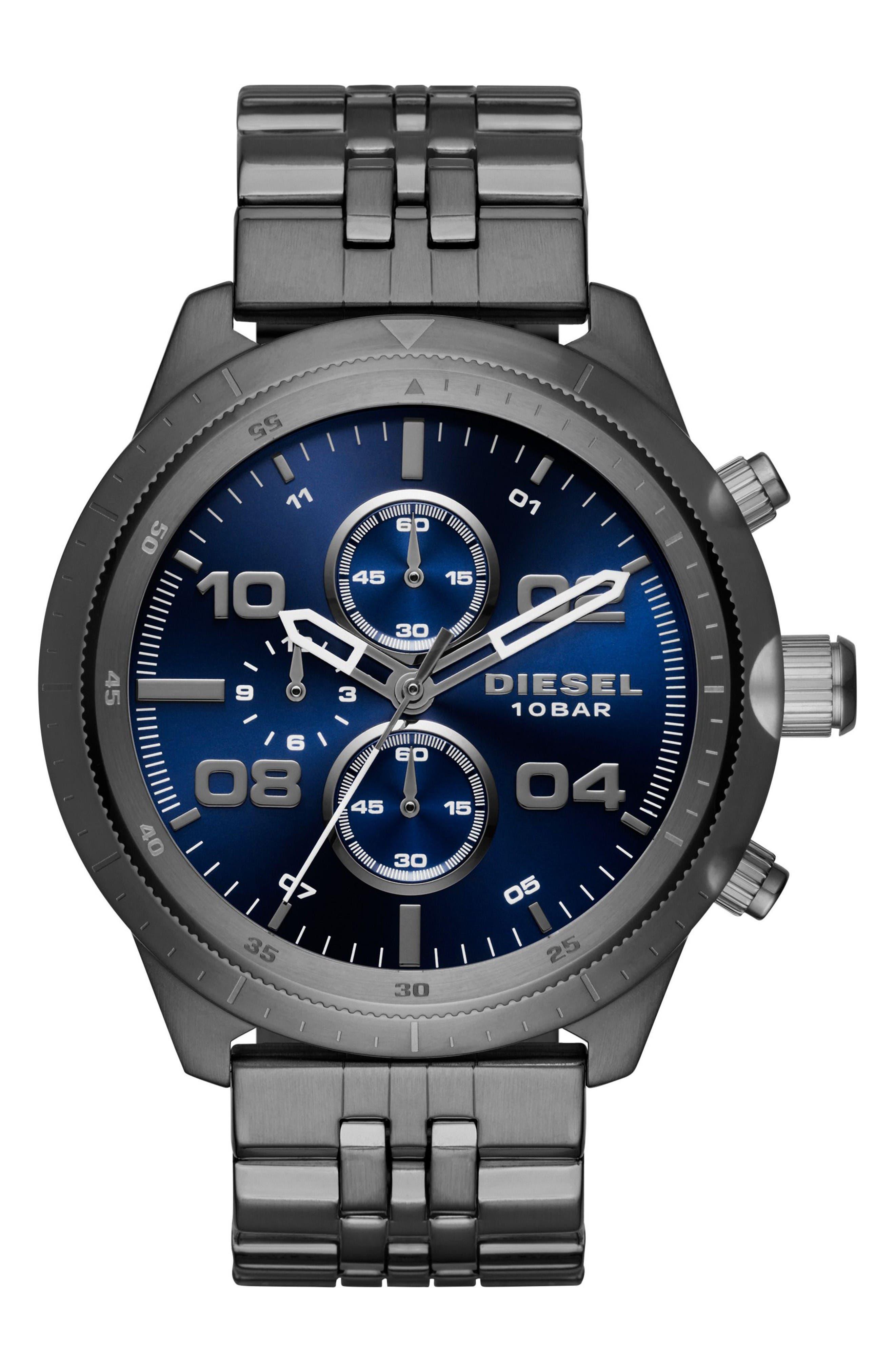 DIESEL® Padlock Chronograph Bracelet Watch, 50mm