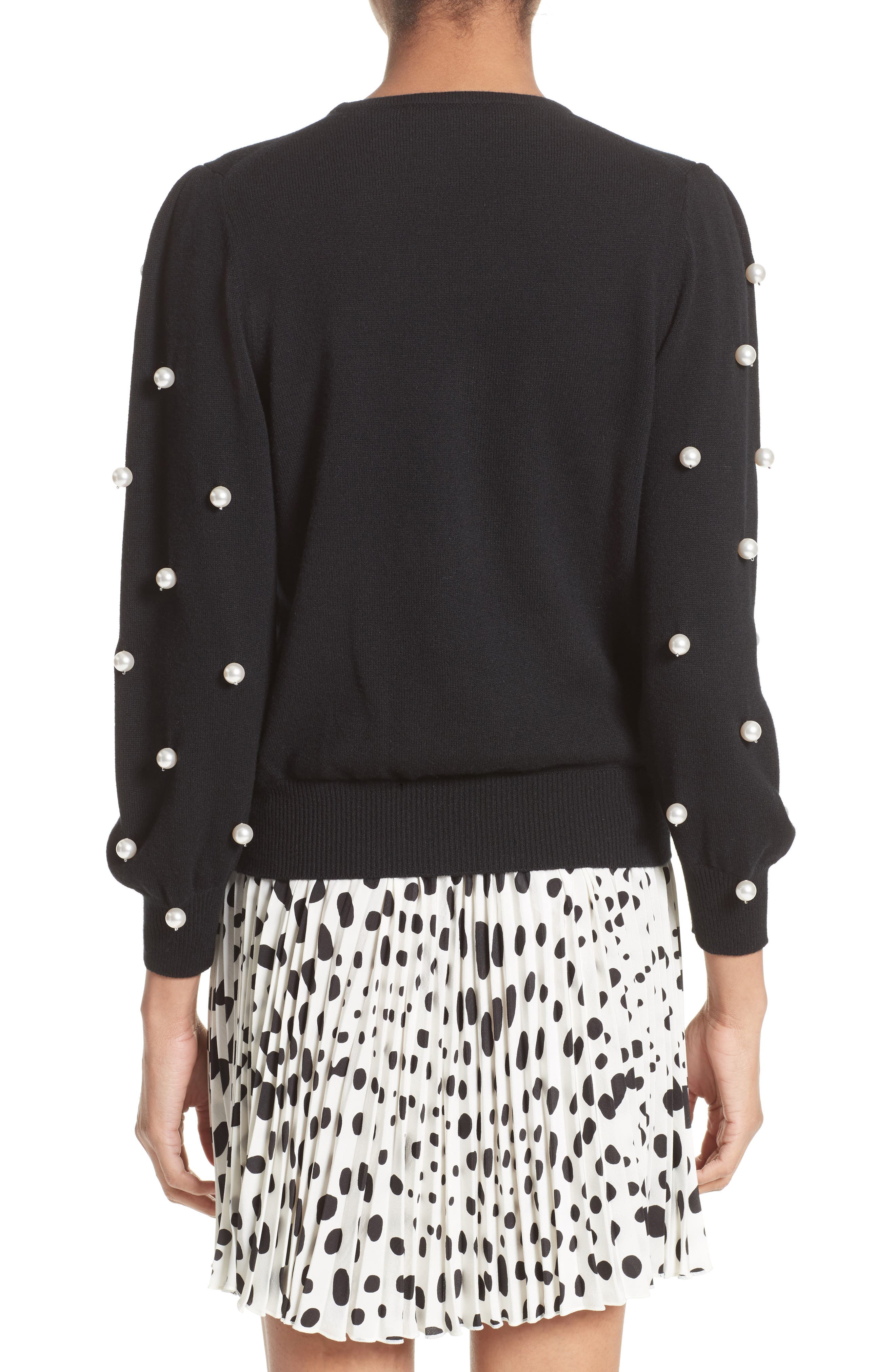 Alternate Image 2  - MARC JACOBS Imitation Pearl Embellished Wool & Cashmere Sweater