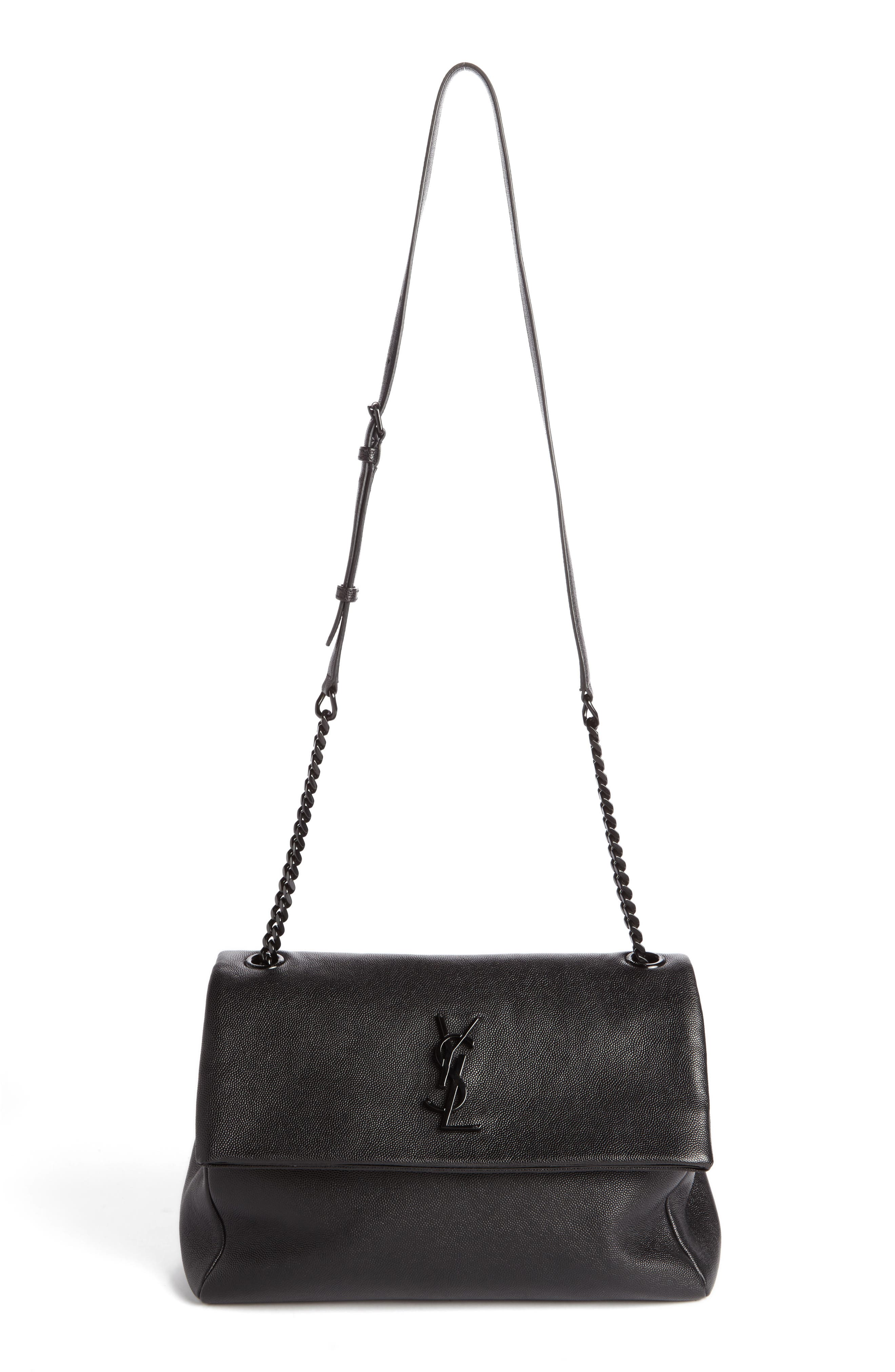 SAINT LAURENT Medium West Hollywood Leather Shoulder Bag
