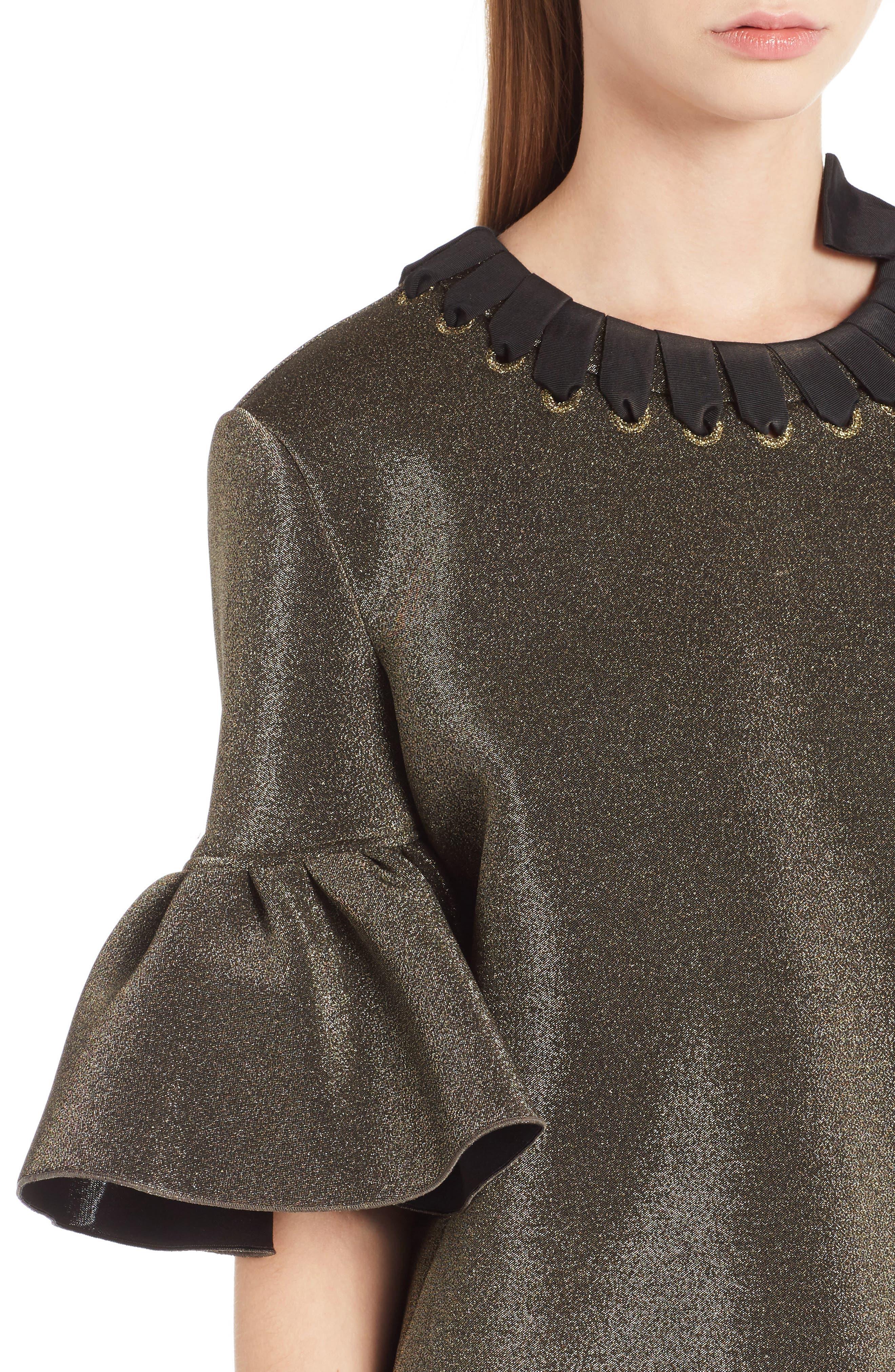 Alternate Image 5  - Fendi Metallic Neoprene Bell Sleeve Top