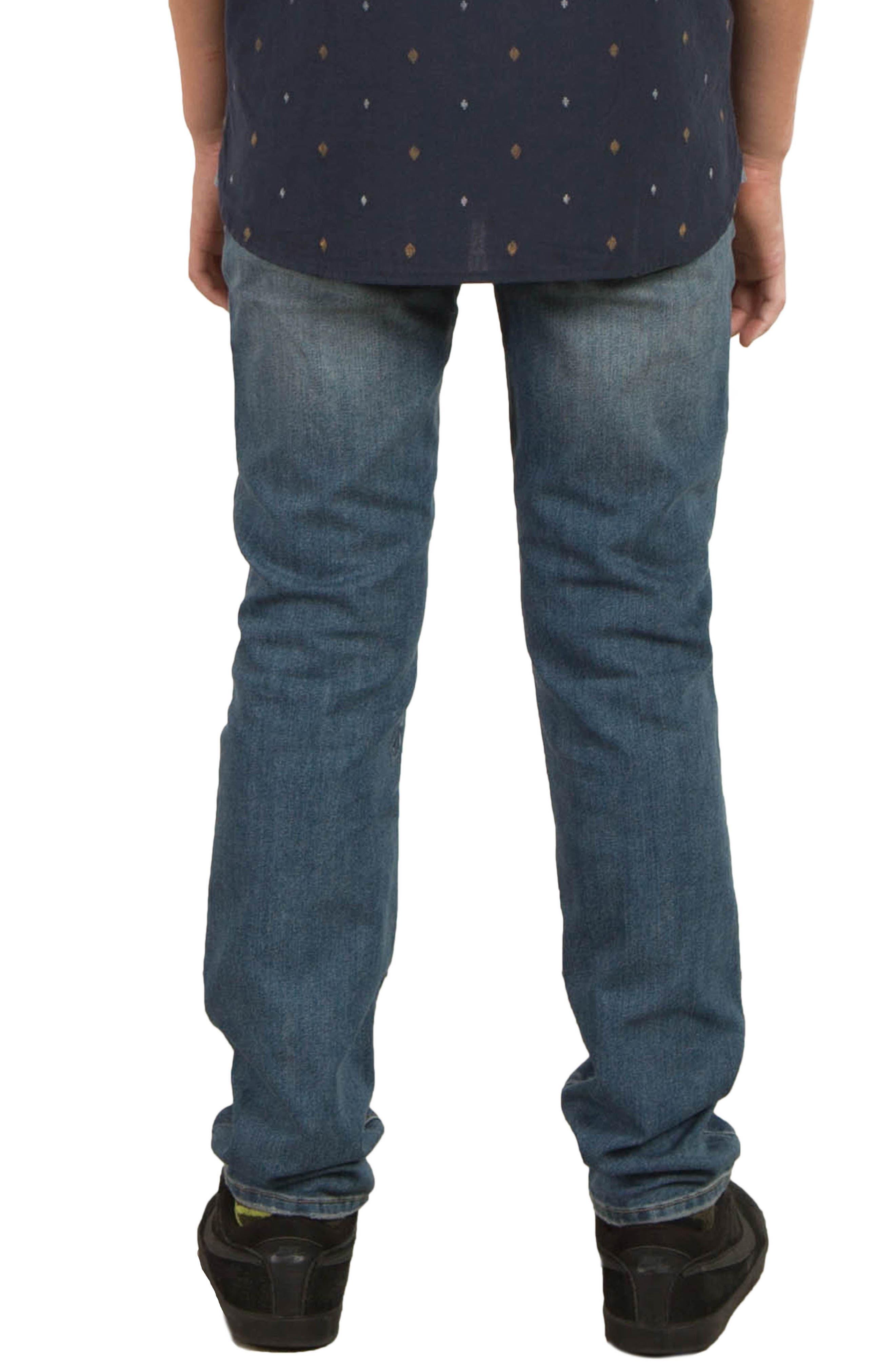 Alternate Image 2  - Volcom Vorta Slim Fit Jeans (Big Boys)